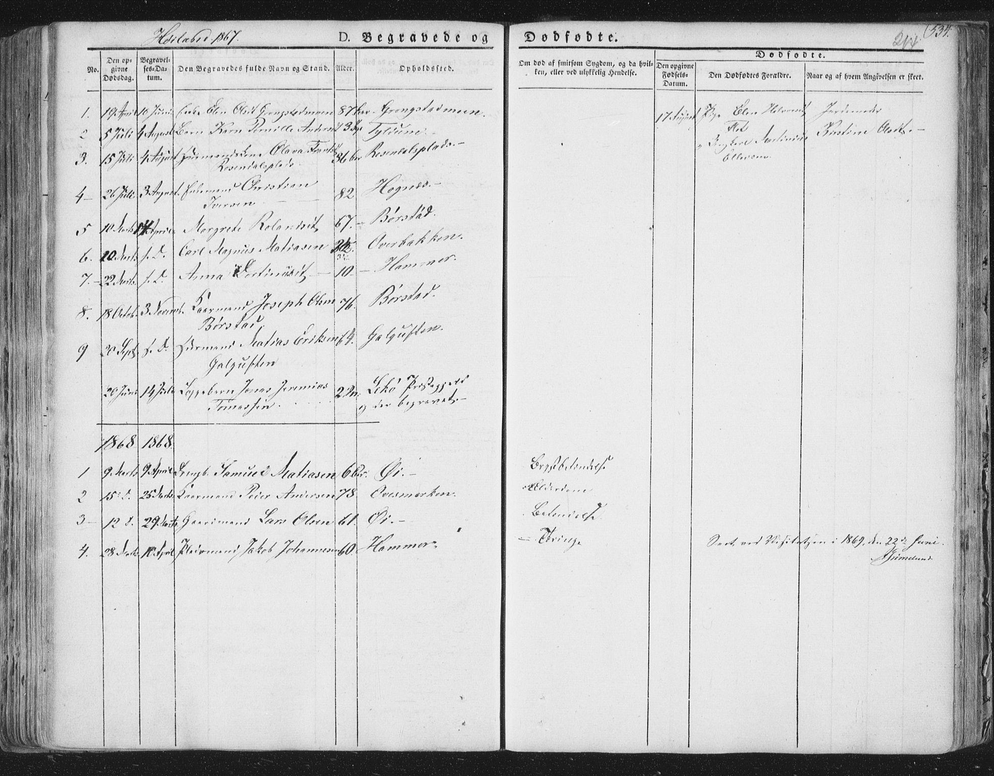 SAT, Ministerialprotokoller, klokkerbøker og fødselsregistre - Nord-Trøndelag, 758/L0513: Ministerialbok nr. 758A02 /2, 1839-1868, s. 214