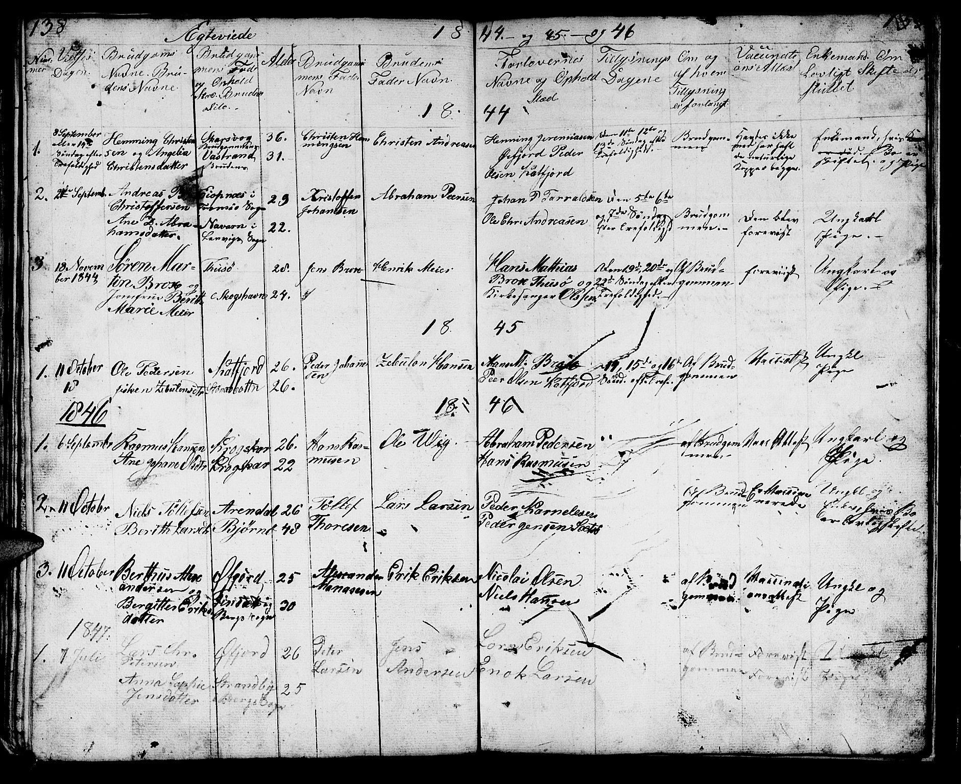 SATØ, Lenvik sokneprestembete, H/Ha: Klokkerbok nr. 18, 1838-1854, s. 138-139