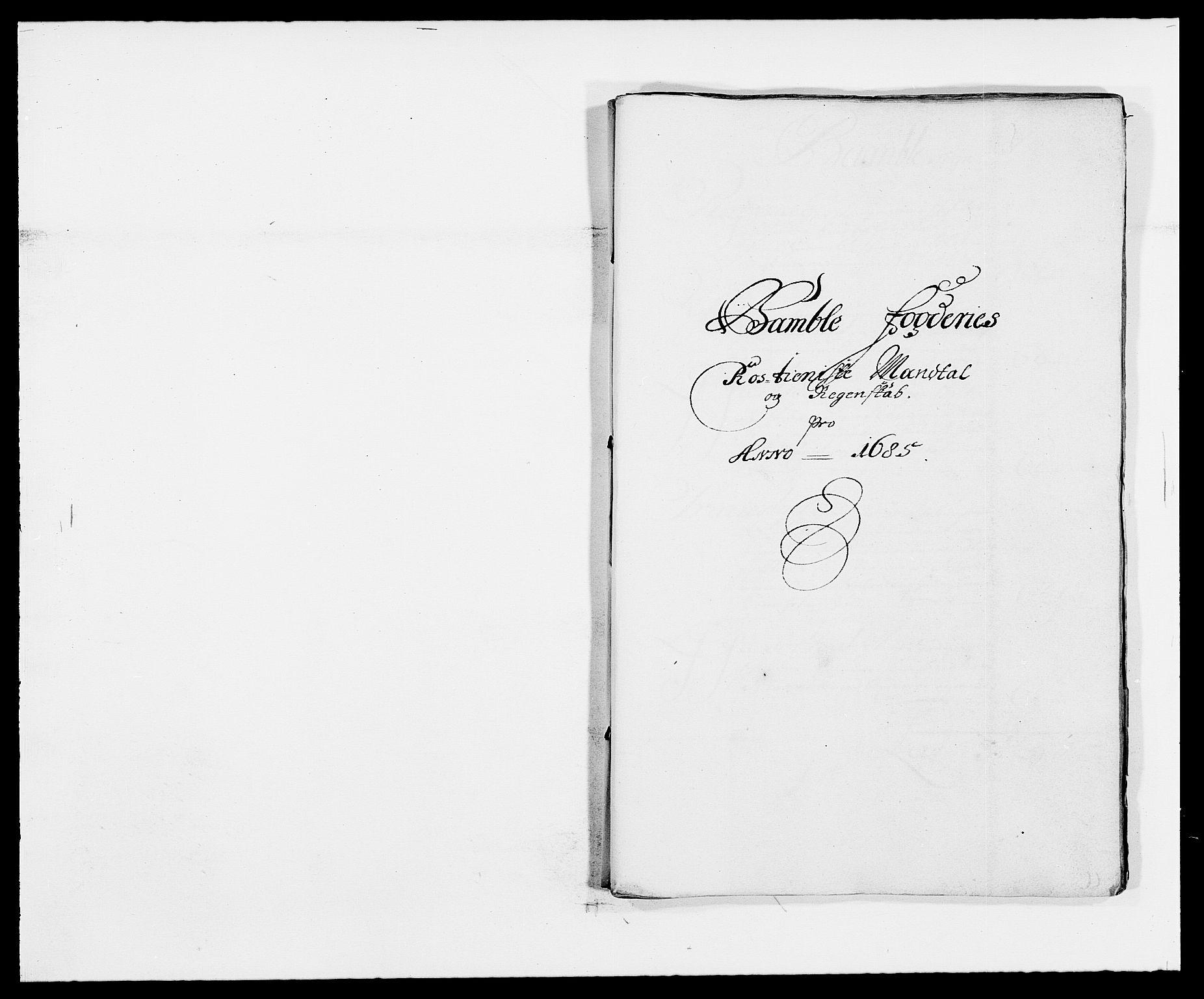 RA, Rentekammeret inntil 1814, Reviderte regnskaper, Fogderegnskap, R34/L2048: Fogderegnskap Bamble, 1685-1687, s. 144