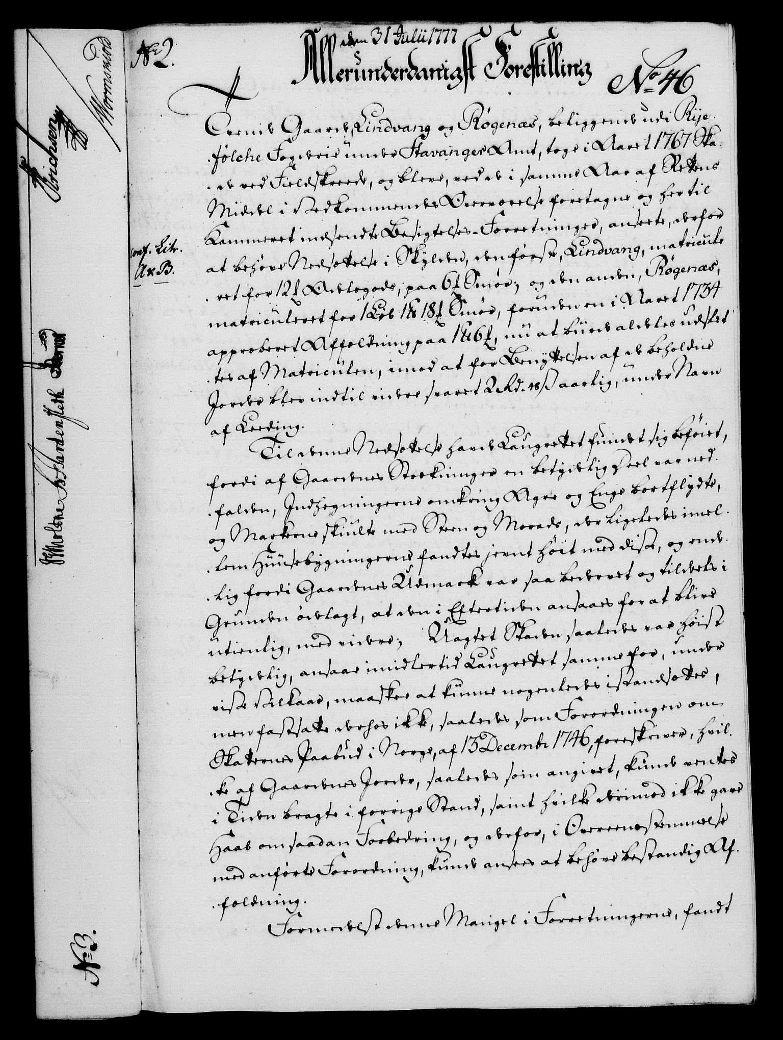 RA, Rentekammeret, Kammerkanselliet, G/Gf/Gfa/L0059: Norsk relasjons- og resolusjonsprotokoll (merket RK 52.59), 1777, s. 241