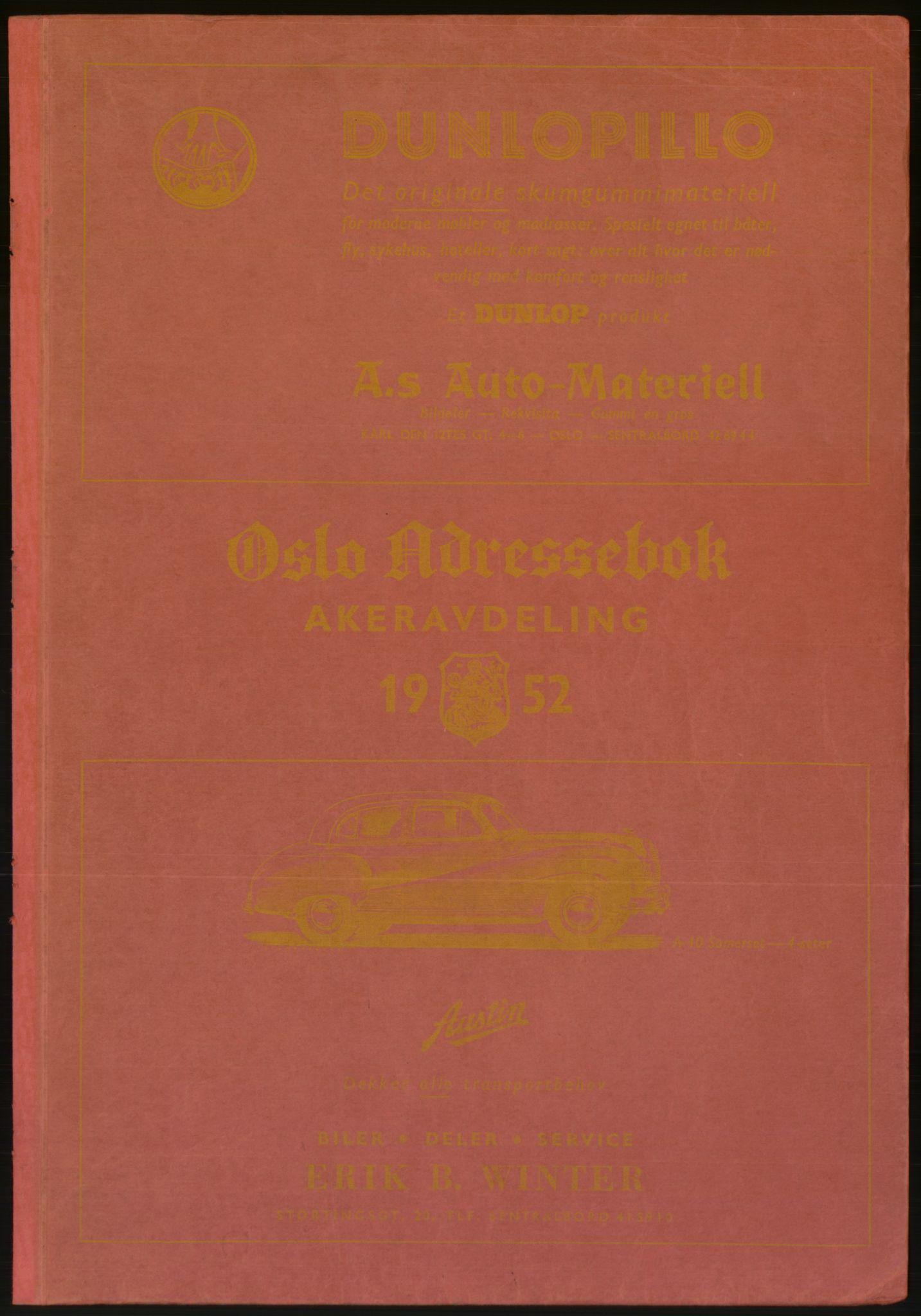 RA, Oslo adressebok (publikasjon)*, 1952