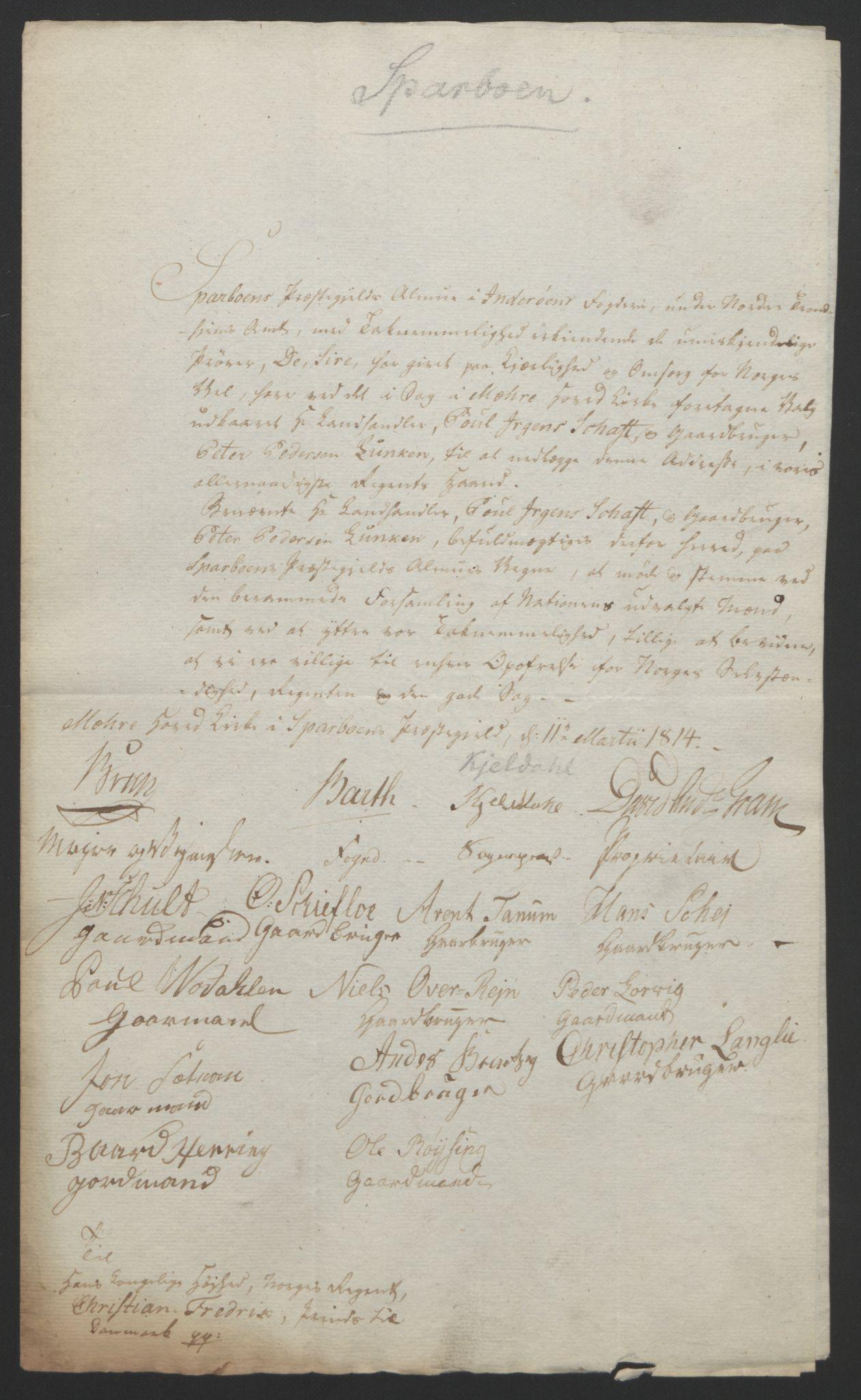 RA, Statsrådssekretariatet, D/Db/L0008: Fullmakter for Eidsvollsrepresentantene i 1814. , 1814, s. 480
