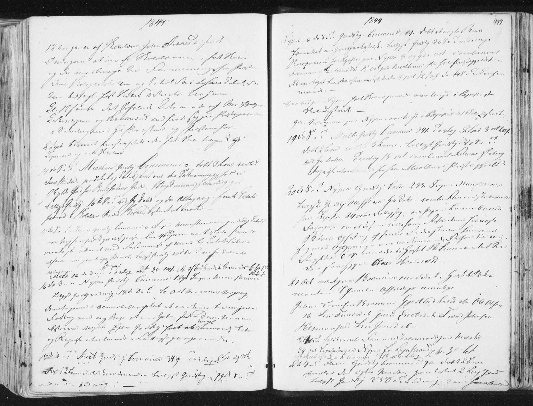 SAT, Ministerialprotokoller, klokkerbøker og fødselsregistre - Sør-Trøndelag, 691/L1074: Ministerialbok nr. 691A06, 1842-1852, s. 499