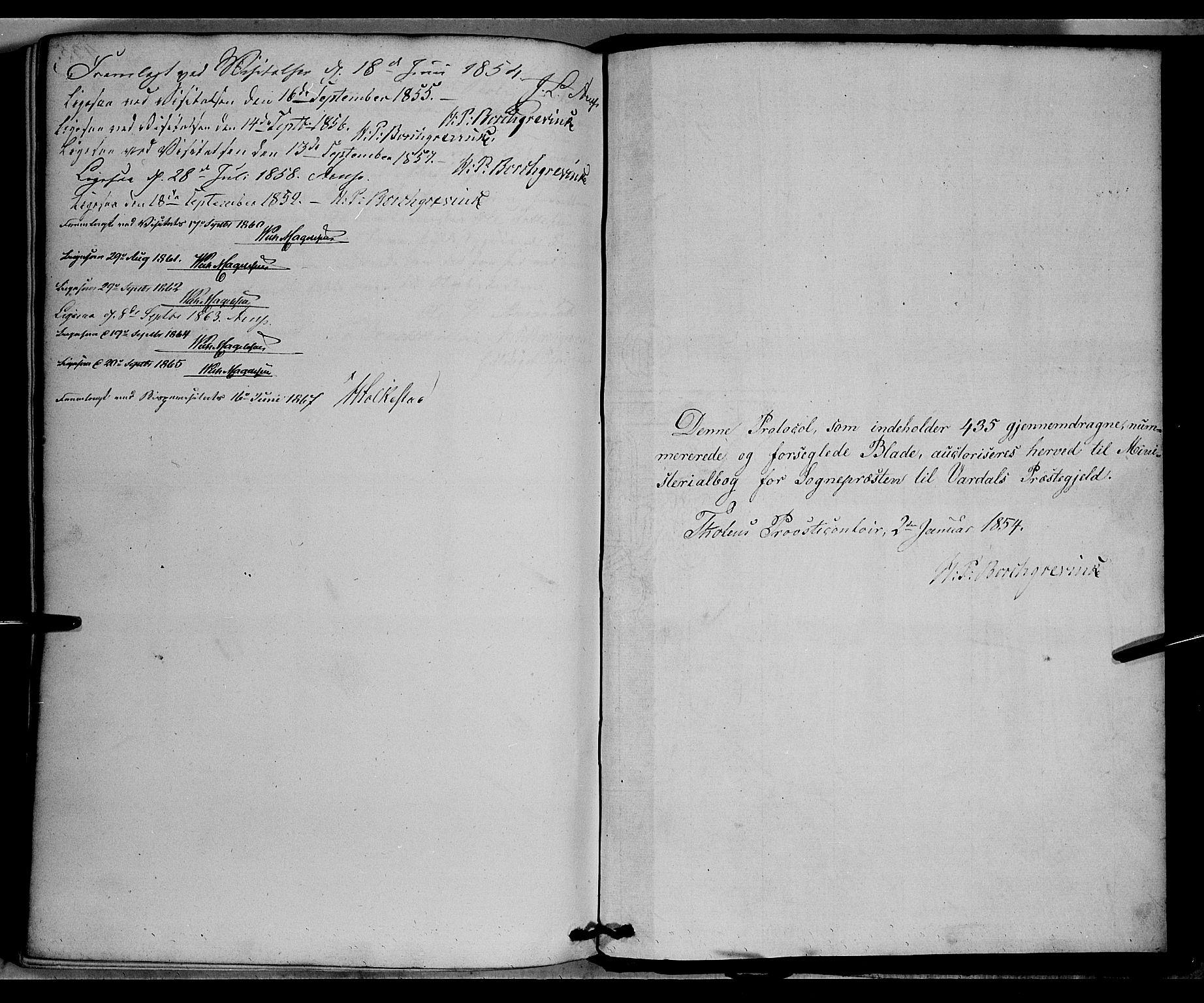 SAH, Vardal prestekontor, H/Ha/Haa/L0006: Ministerialbok nr. 6, 1854-1866