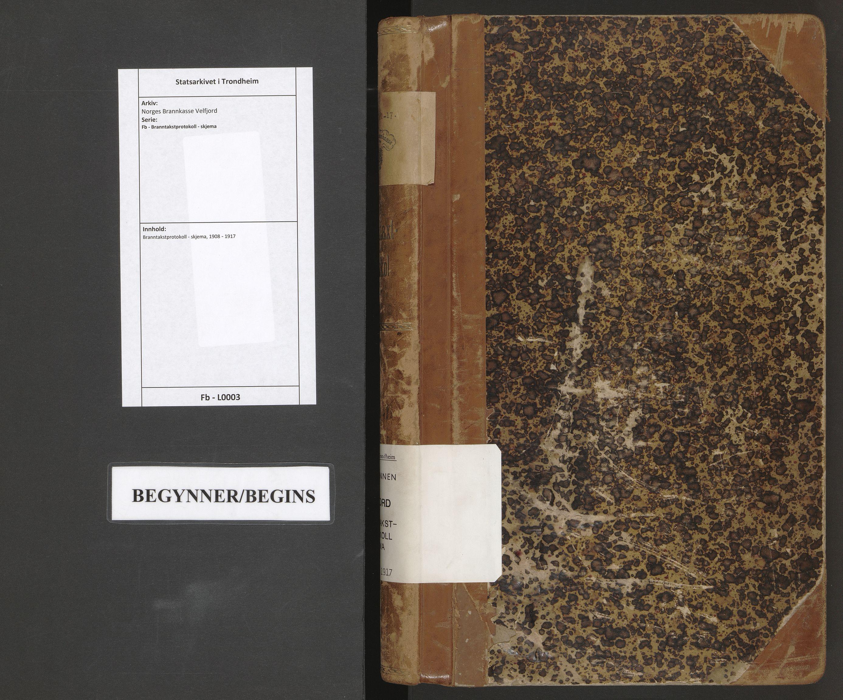 SAT, Norges Brannkasse Velfjord, Fb/L0003: Branntakstprotokoll - skjema, 1908-1917