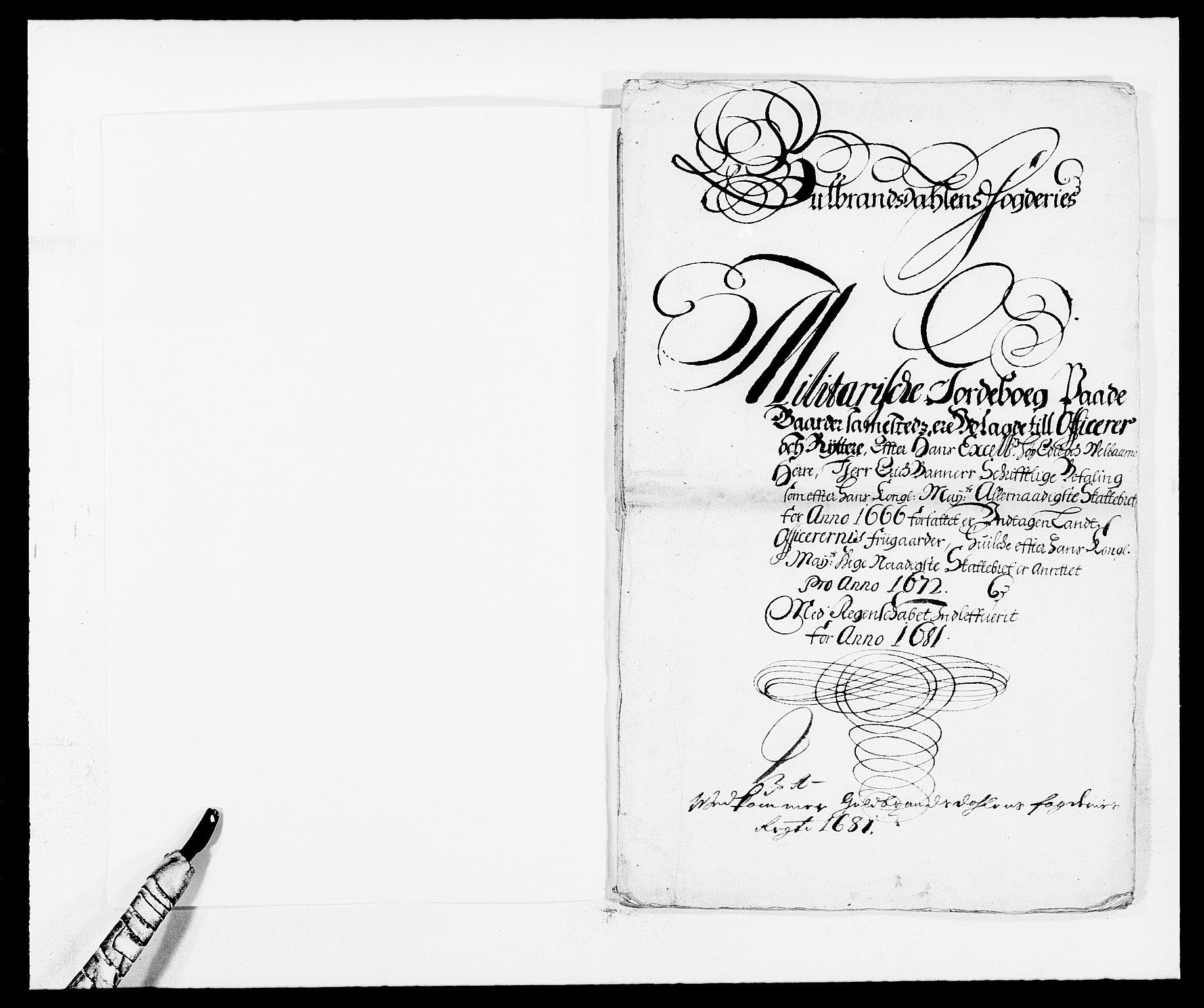 RA, Rentekammeret inntil 1814, Reviderte regnskaper, Fogderegnskap, R17/L1156: Fogderegnskap Gudbrandsdal, 1681, s. 158