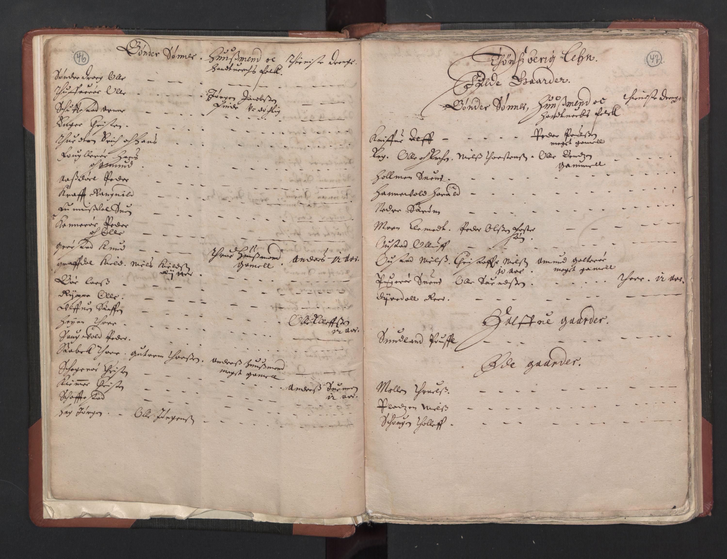 RA, Fogdenes og sorenskrivernes manntall 1664-1666, nr. 5: Fogderier (len og skipreider) i nåværende Buskerud fylke og Vestfold fylke, 1664, s. 46-47