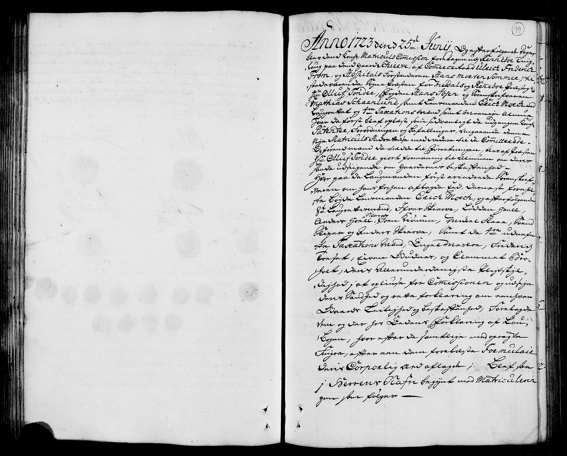 RA, Rentekammeret inntil 1814, Realistisk ordnet avdeling, N/Nb/Nbf/L0156: Orkdal eksaminasjonsprotokoll, 1723, s. 98b-99a