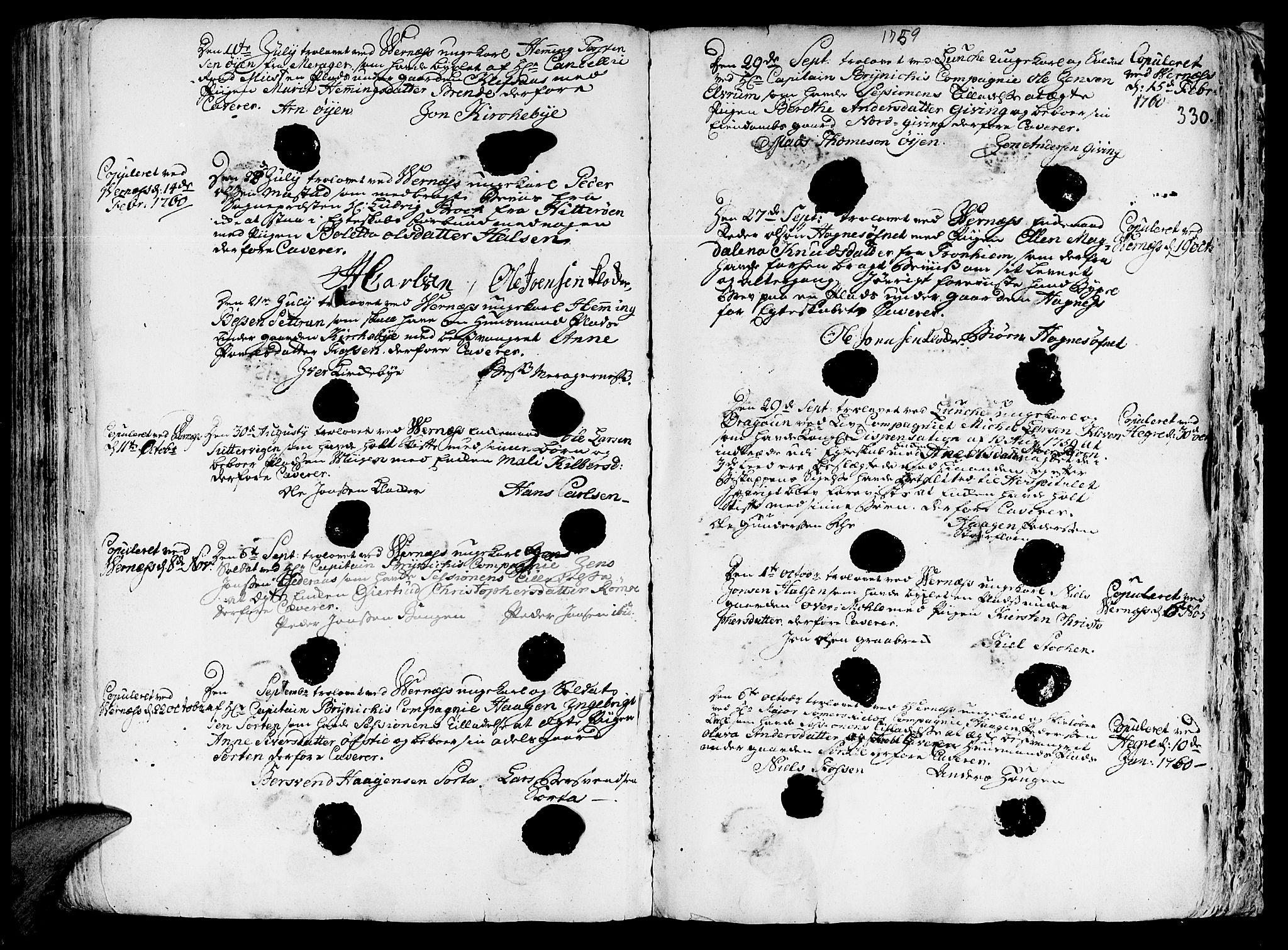 SAT, Ministerialprotokoller, klokkerbøker og fødselsregistre - Nord-Trøndelag, 709/L0057: Ministerialbok nr. 709A05, 1755-1780, s. 330