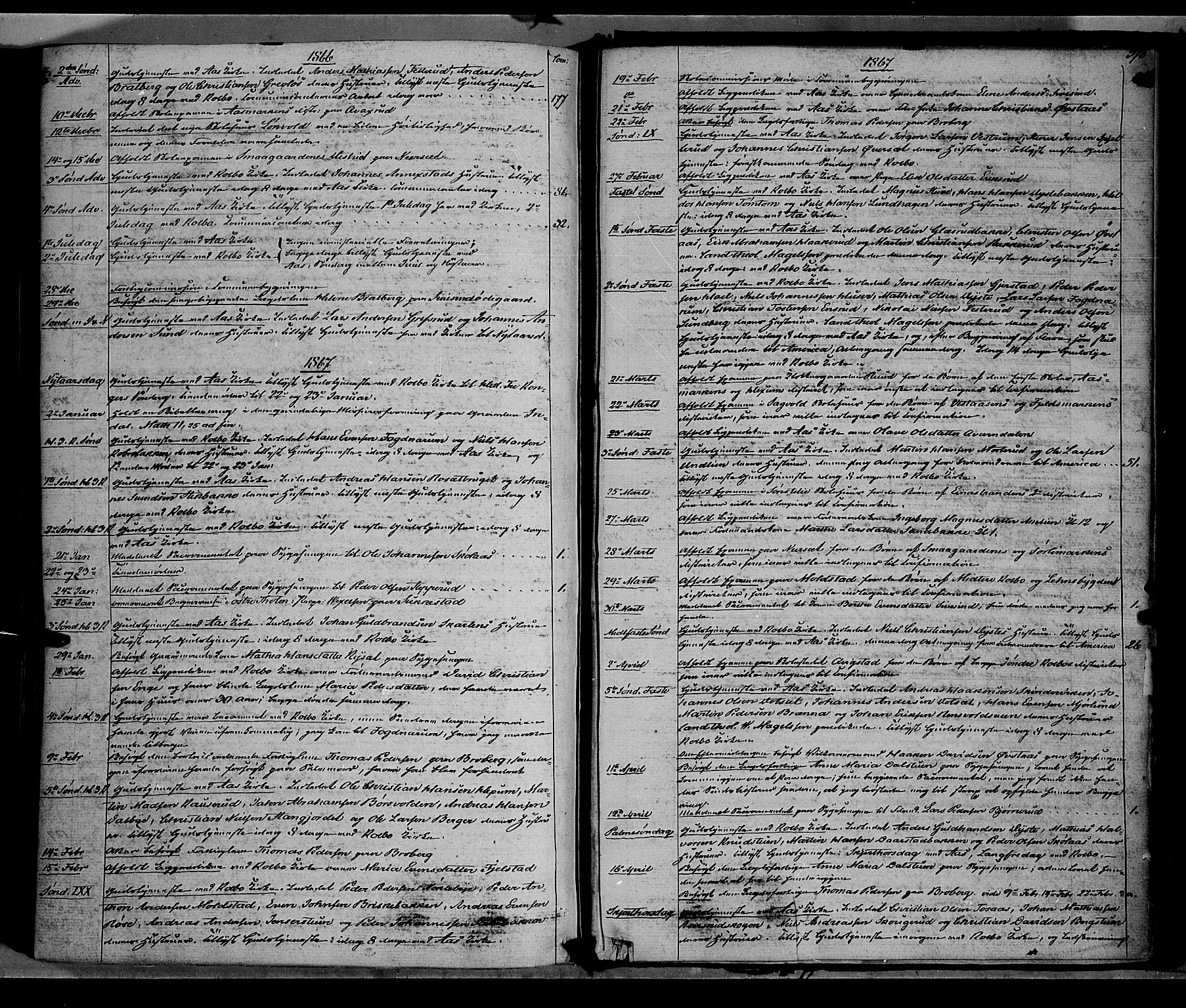 SAH, Vestre Toten prestekontor, H/Ha/Haa/L0007: Ministerialbok nr. 7, 1862-1869, s. 375