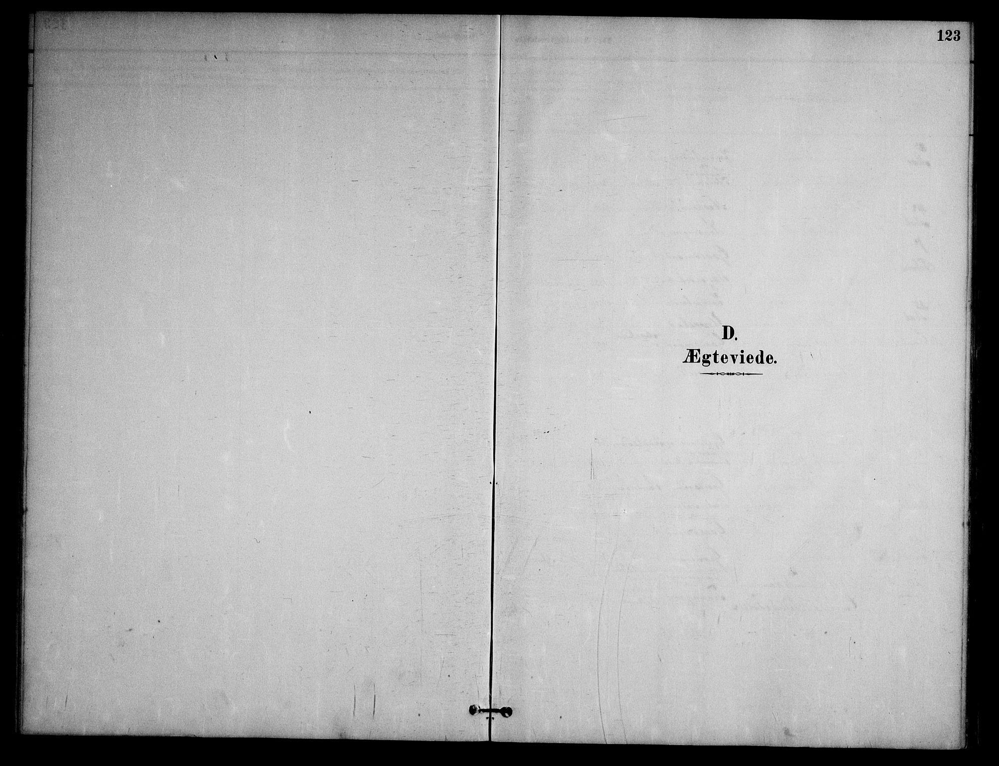 SAKO, Nissedal kirkebøker, G/Ga/L0003: Klokkerbok nr. I 3, 1887-1911, s. 123