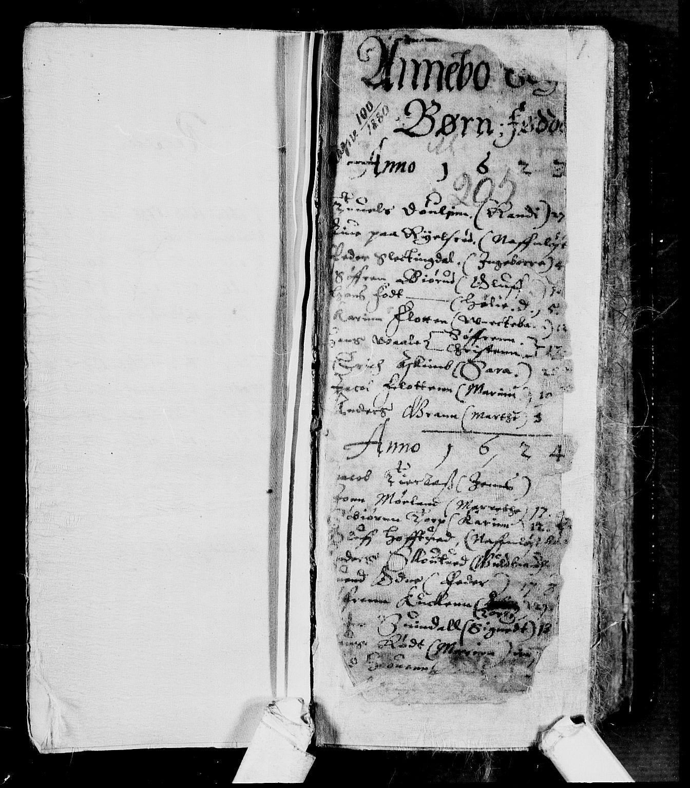 SAKO, Andebu kirkebøker, F/Fa/L0001: Ministerialbok nr. 1 /1, 1623-1738, s. 1