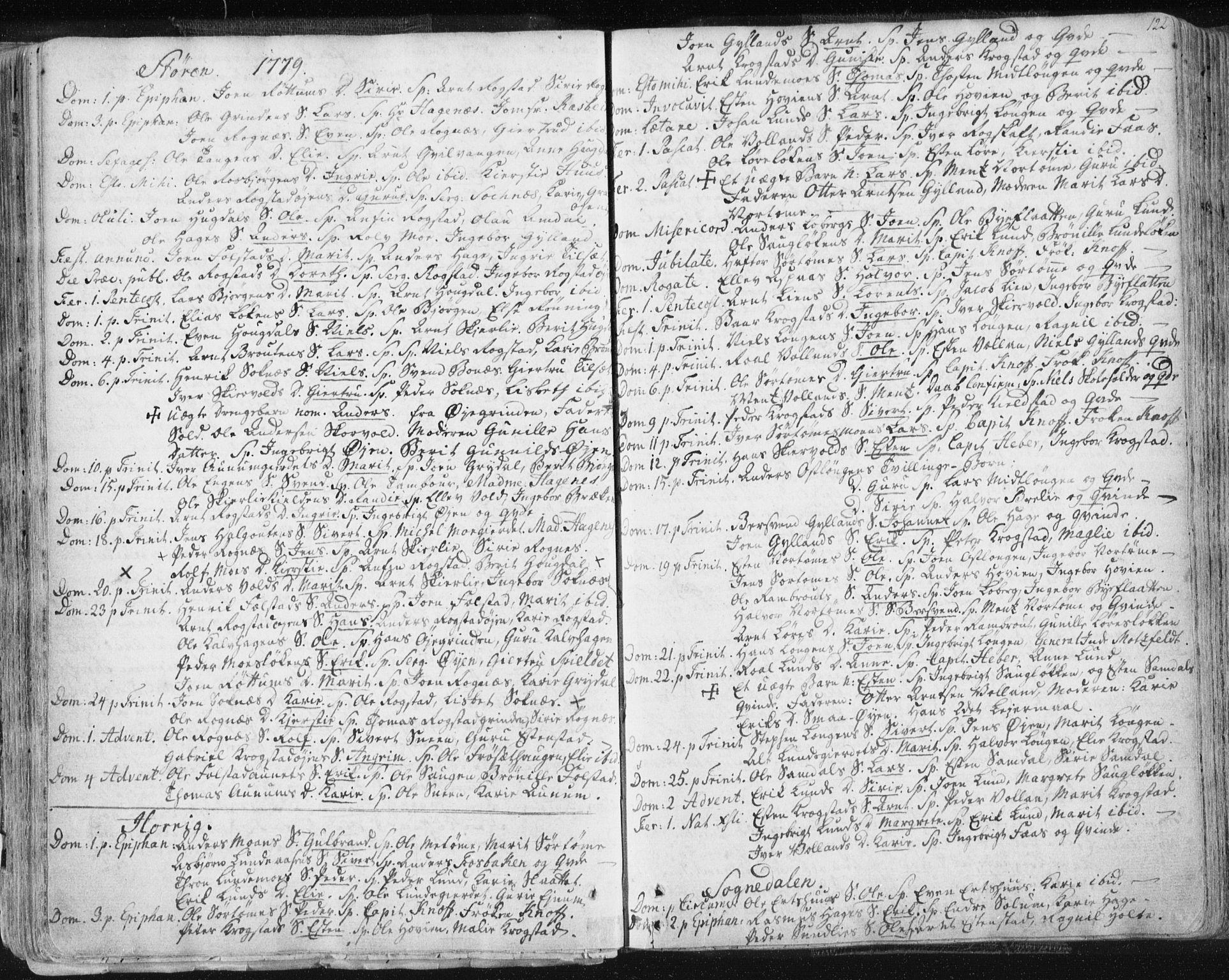 SAT, Ministerialprotokoller, klokkerbøker og fødselsregistre - Sør-Trøndelag, 687/L0991: Ministerialbok nr. 687A02, 1747-1790, s. 122