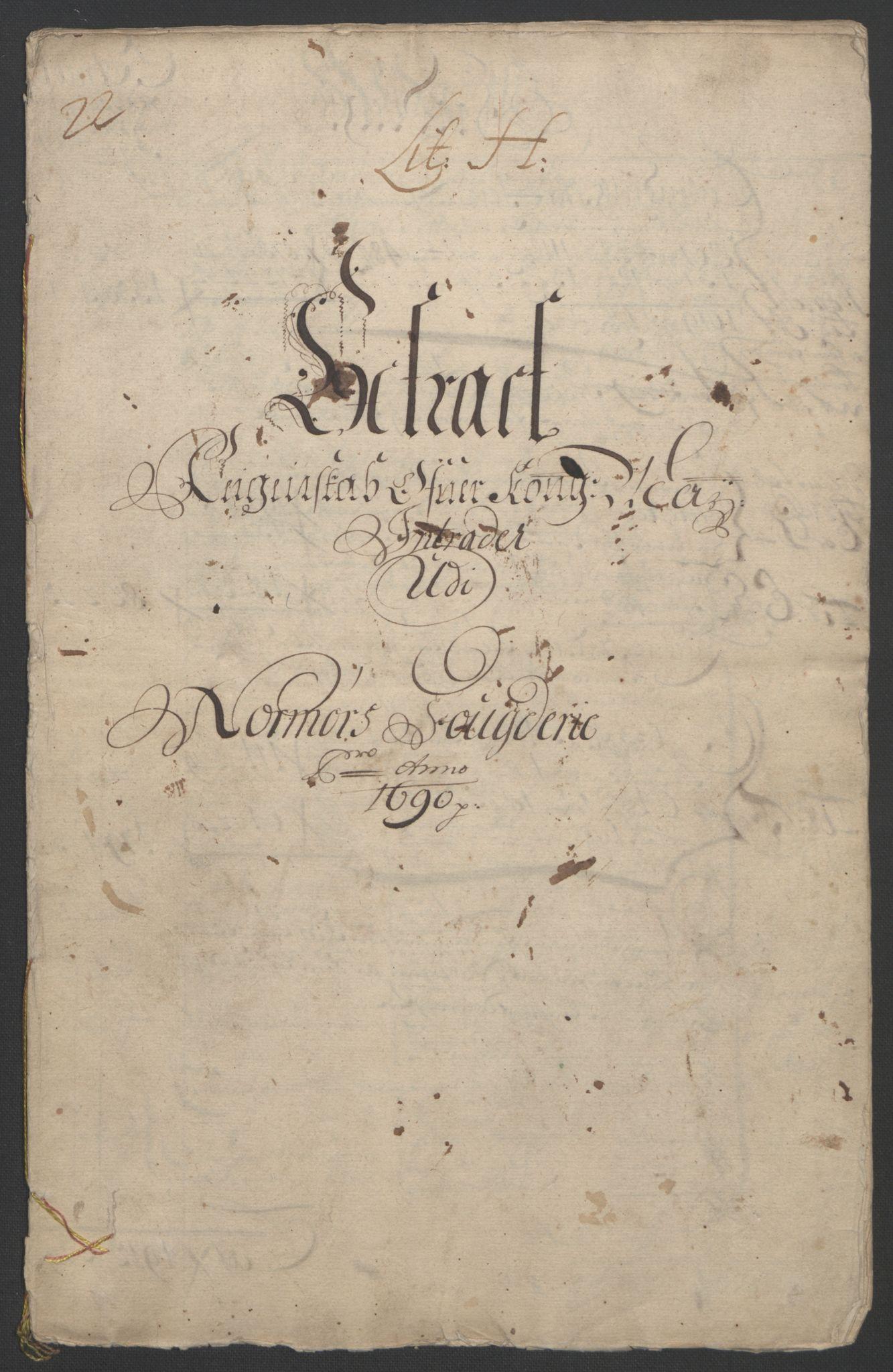 RA, Rentekammeret inntil 1814, Reviderte regnskaper, Fogderegnskap, R56/L3734: Fogderegnskap Nordmøre, 1690-1691, s. 3