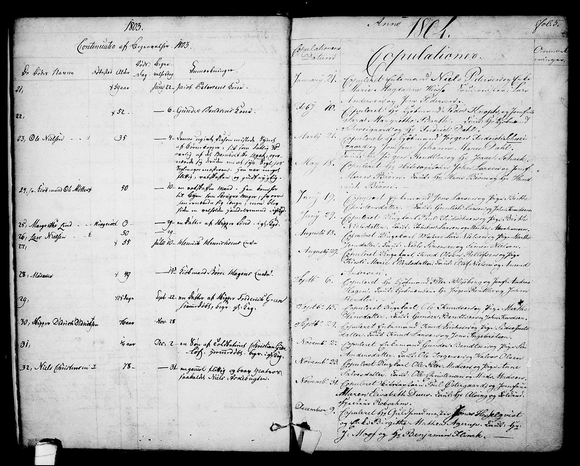 SAKO, Kragerø kirkebøker, F/Fa/L0003: Ministerialbok nr. 3, 1802-1813, s. 5