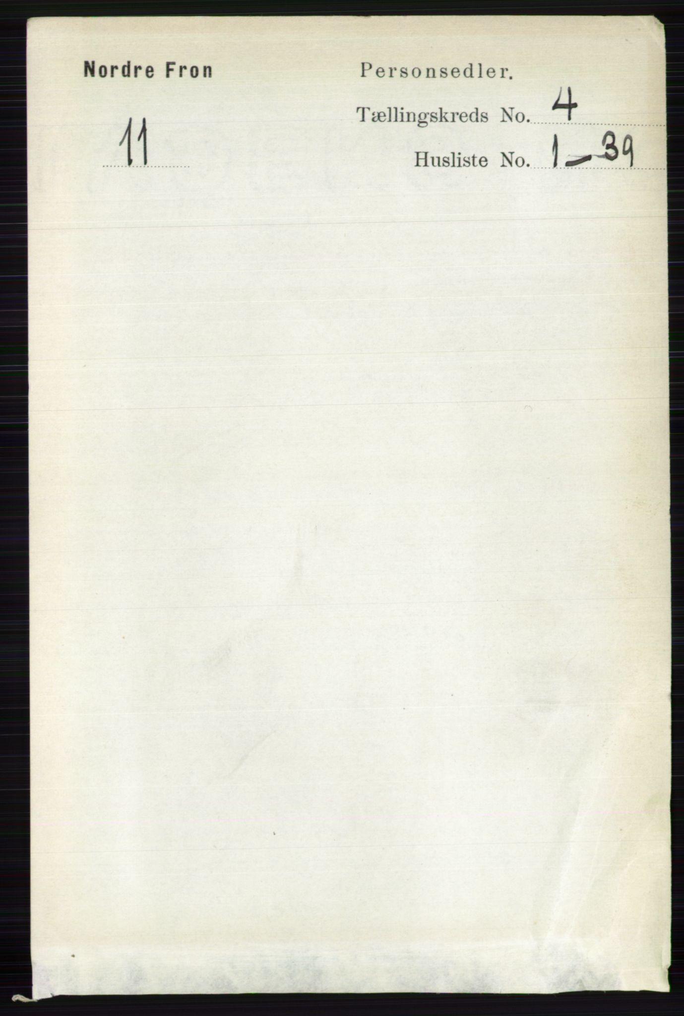 RA, Folketelling 1891 for 0518 Nord-Fron herred, 1891, s. 1460