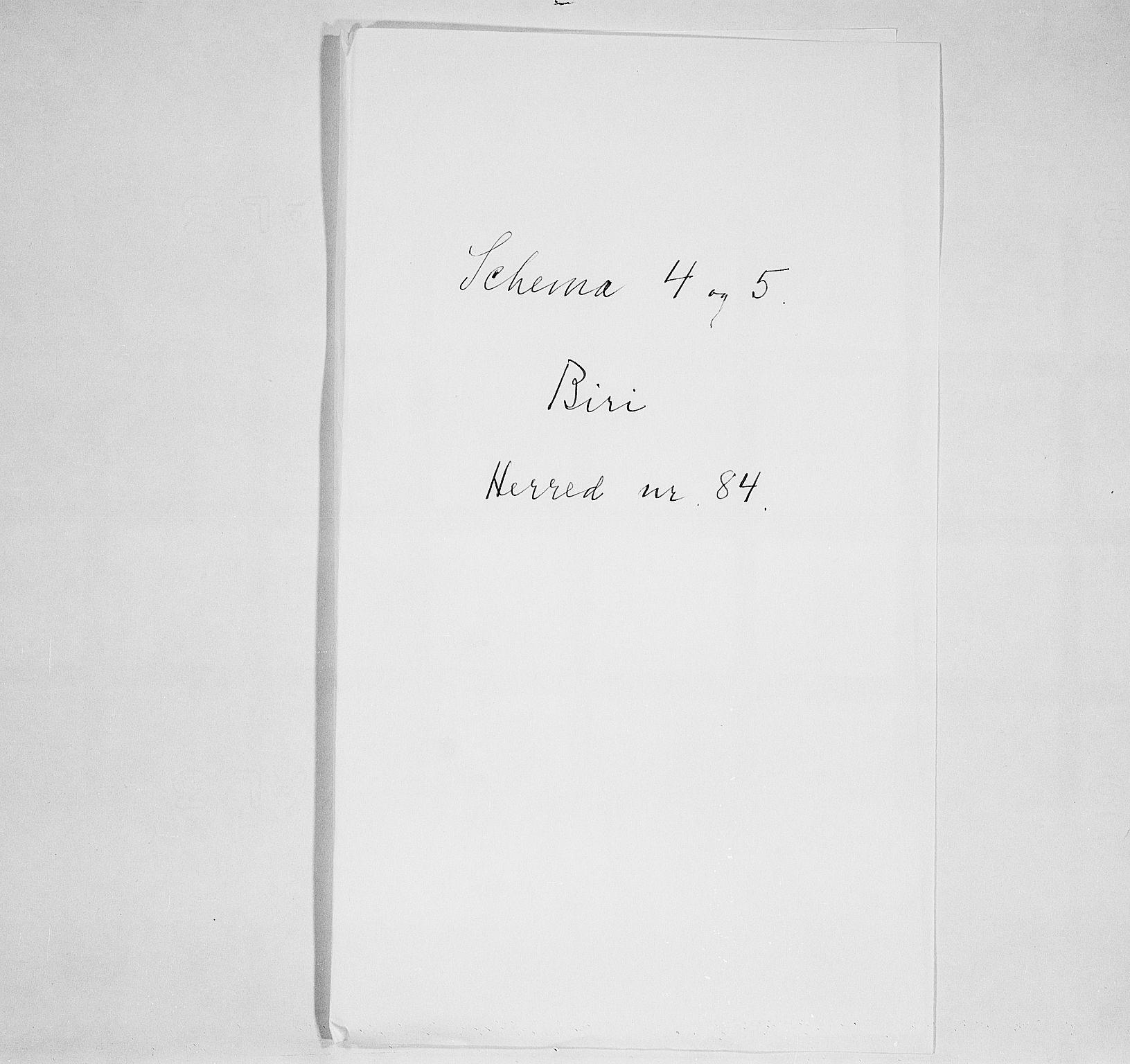 SAH, Folketelling 1900 for 0525 Biri herred, 1900, s. 1
