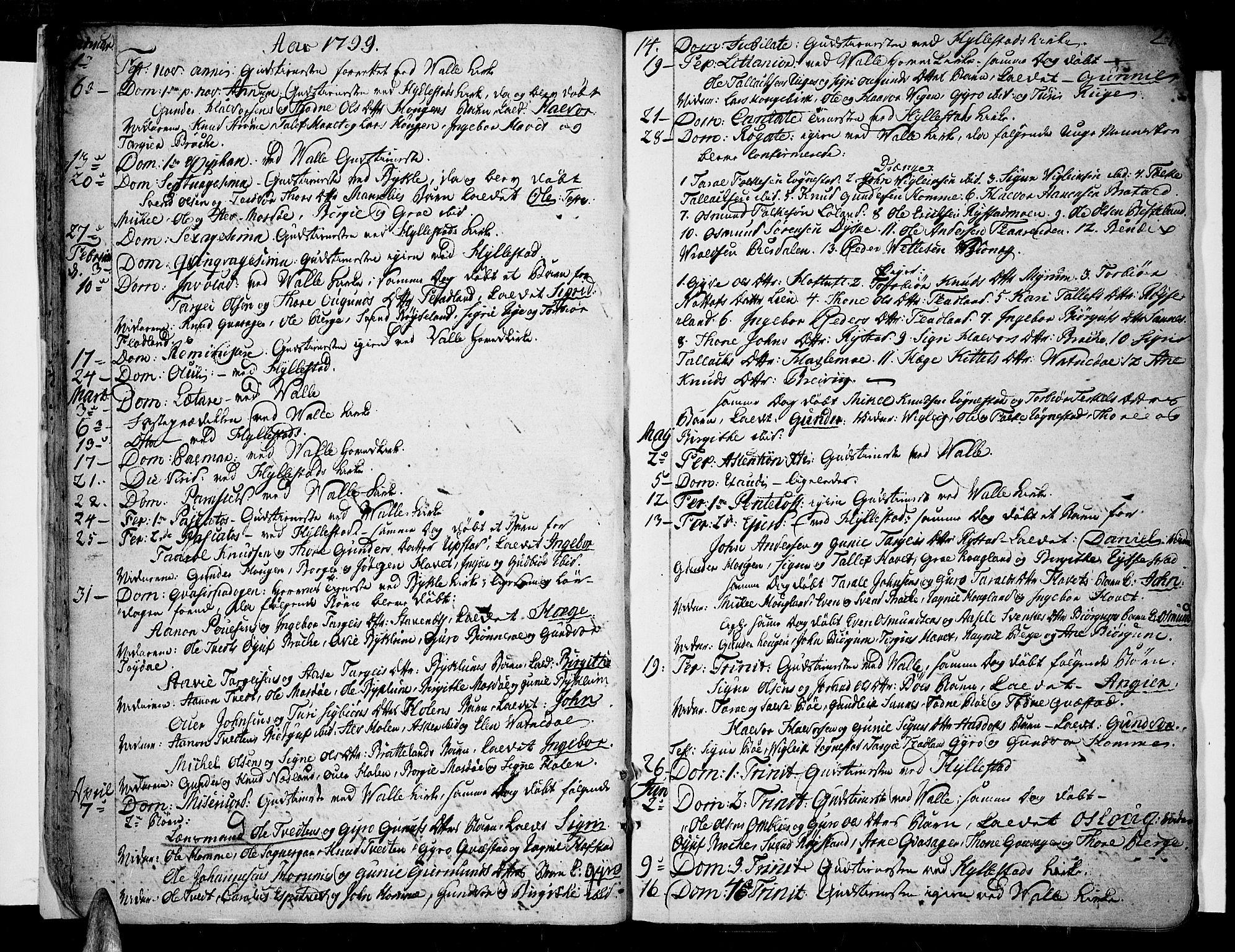 SAK, Valle sokneprestkontor, F/Fa/Fac/L0004: Ministerialbok nr. A 4, 1790-1816, s. 21