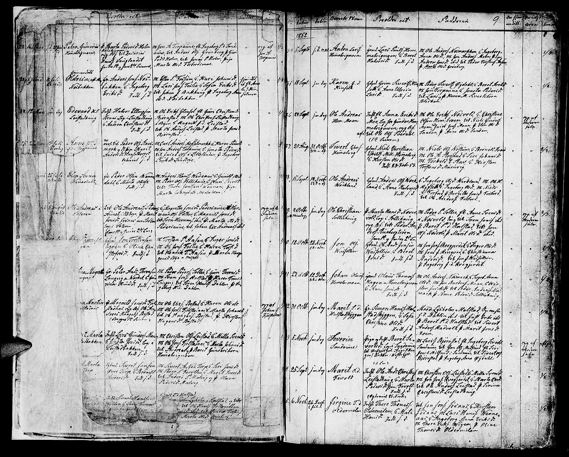 SAT, Ministerialprotokoller, klokkerbøker og fødselsregistre - Sør-Trøndelag, 616/L0422: Klokkerbok nr. 616C05, 1850-1888, s. 7