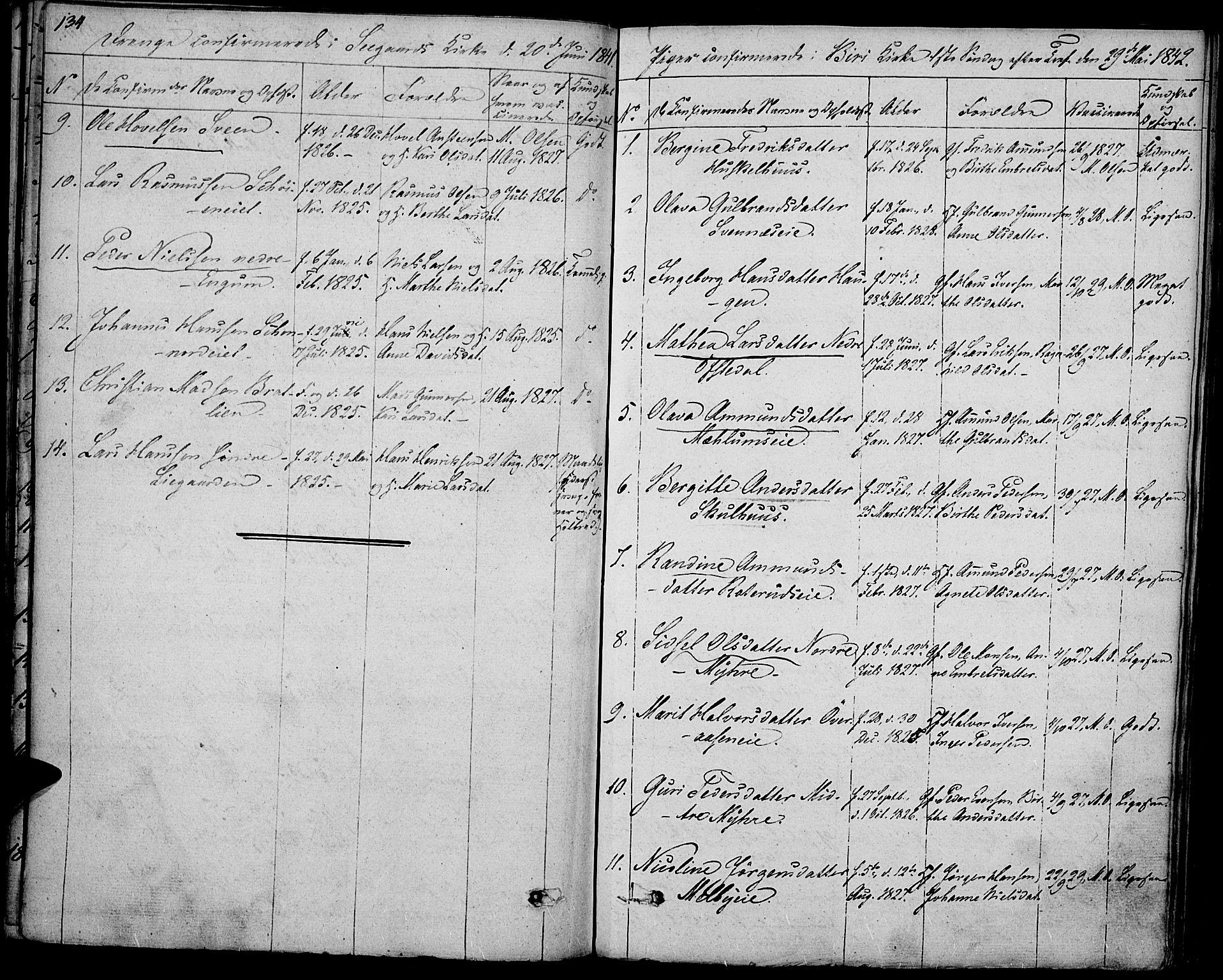 SAH, Biri prestekontor, Ministerialbok nr. 4, 1829-1842, s. 134