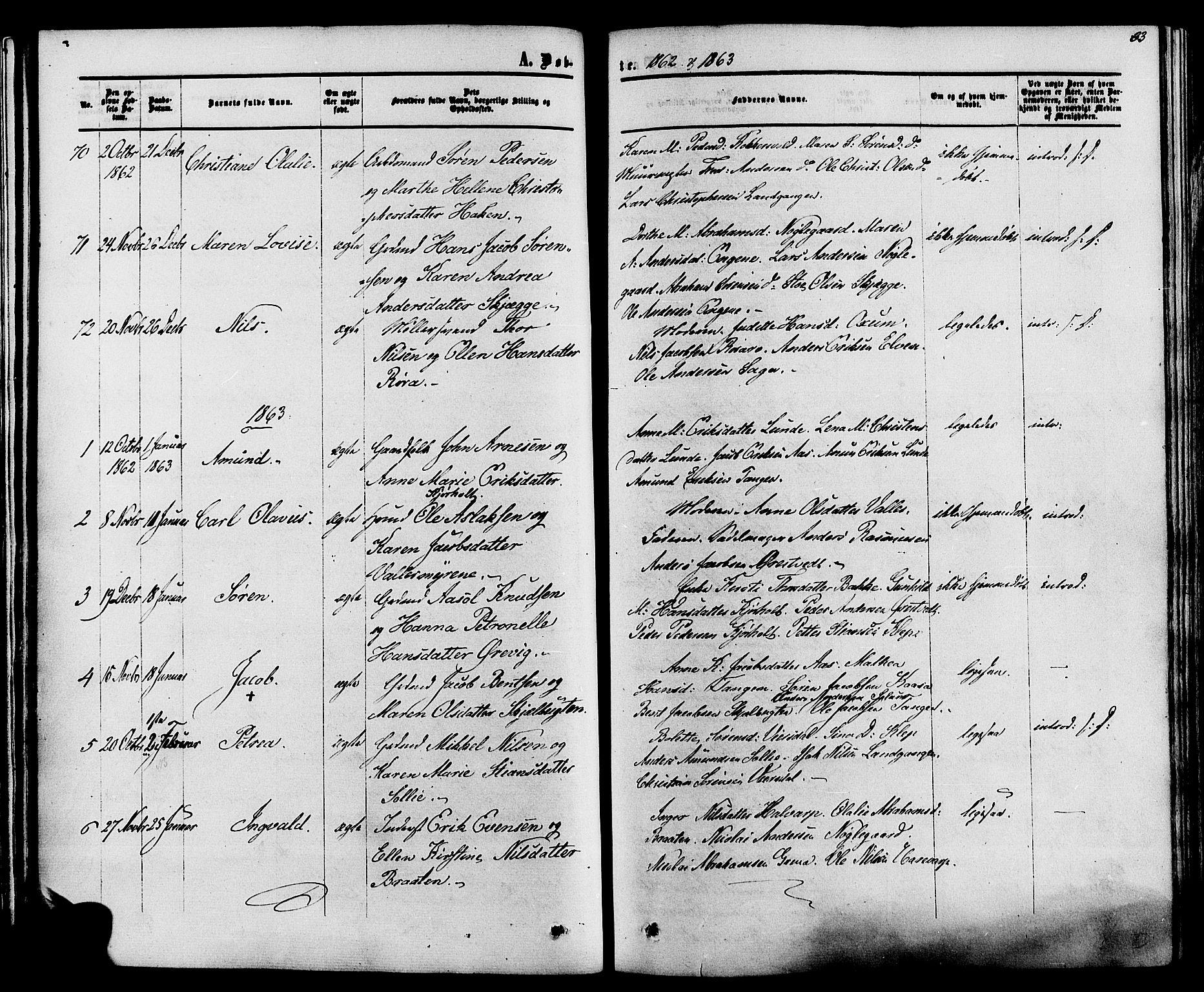 SAKO, Eidanger kirkebøker, F/Fa/L0010: Ministerialbok nr. 10, 1859-1874, s. 33