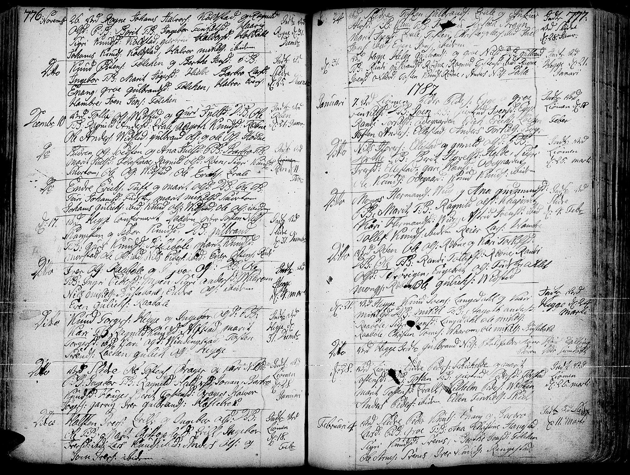 SAH, Slidre prestekontor, Ministerialbok nr. 1, 1724-1814, s. 776-777