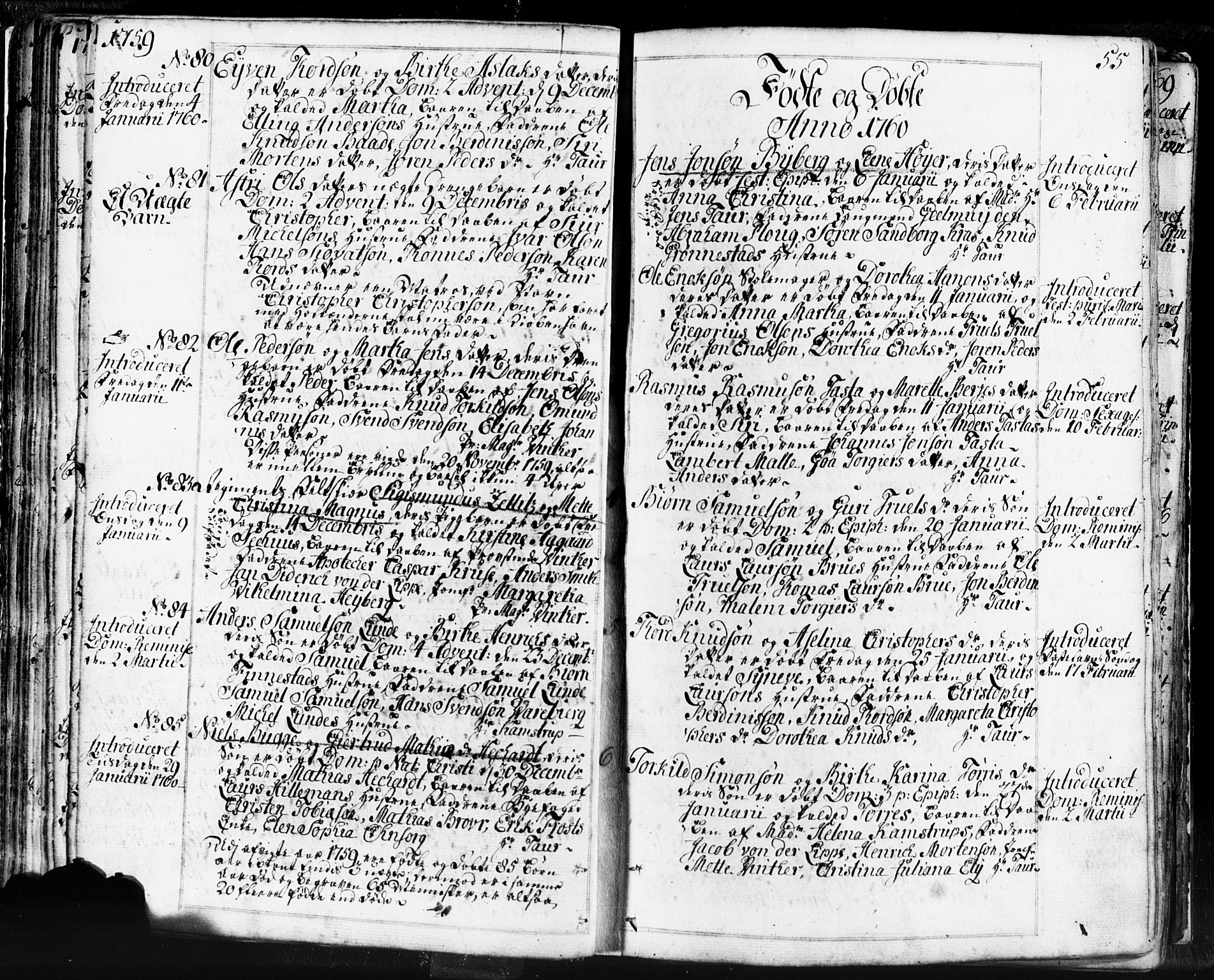 SAST, Domkirken sokneprestkontor, 30/30BB/L0004: Klokkerbok nr. B 4, 1752-1790, s. 55