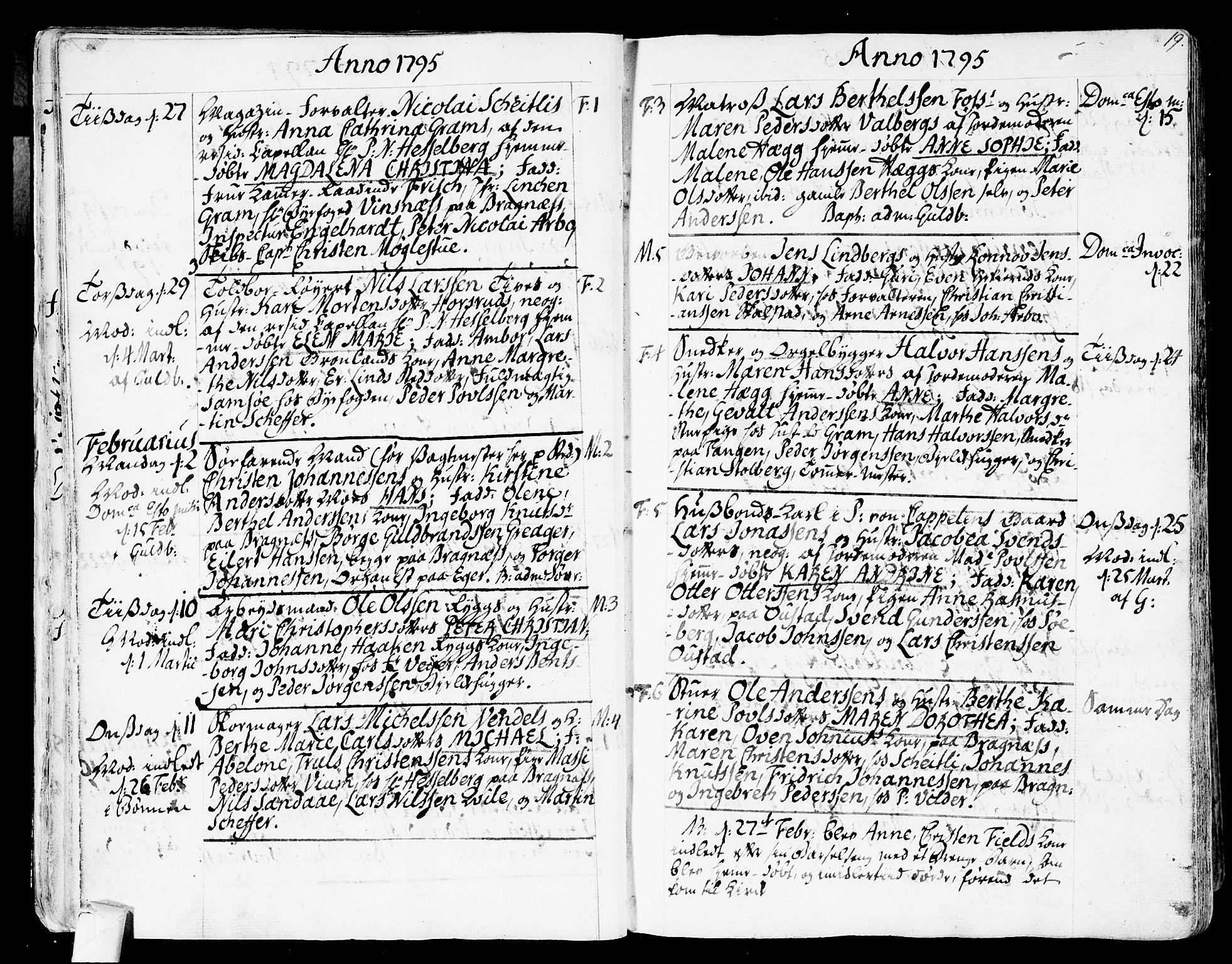 SAKO, Strømsø kirkebøker, F/Fa/L0010: Ministerialbok nr. I 10, 1792-1822, s. 19