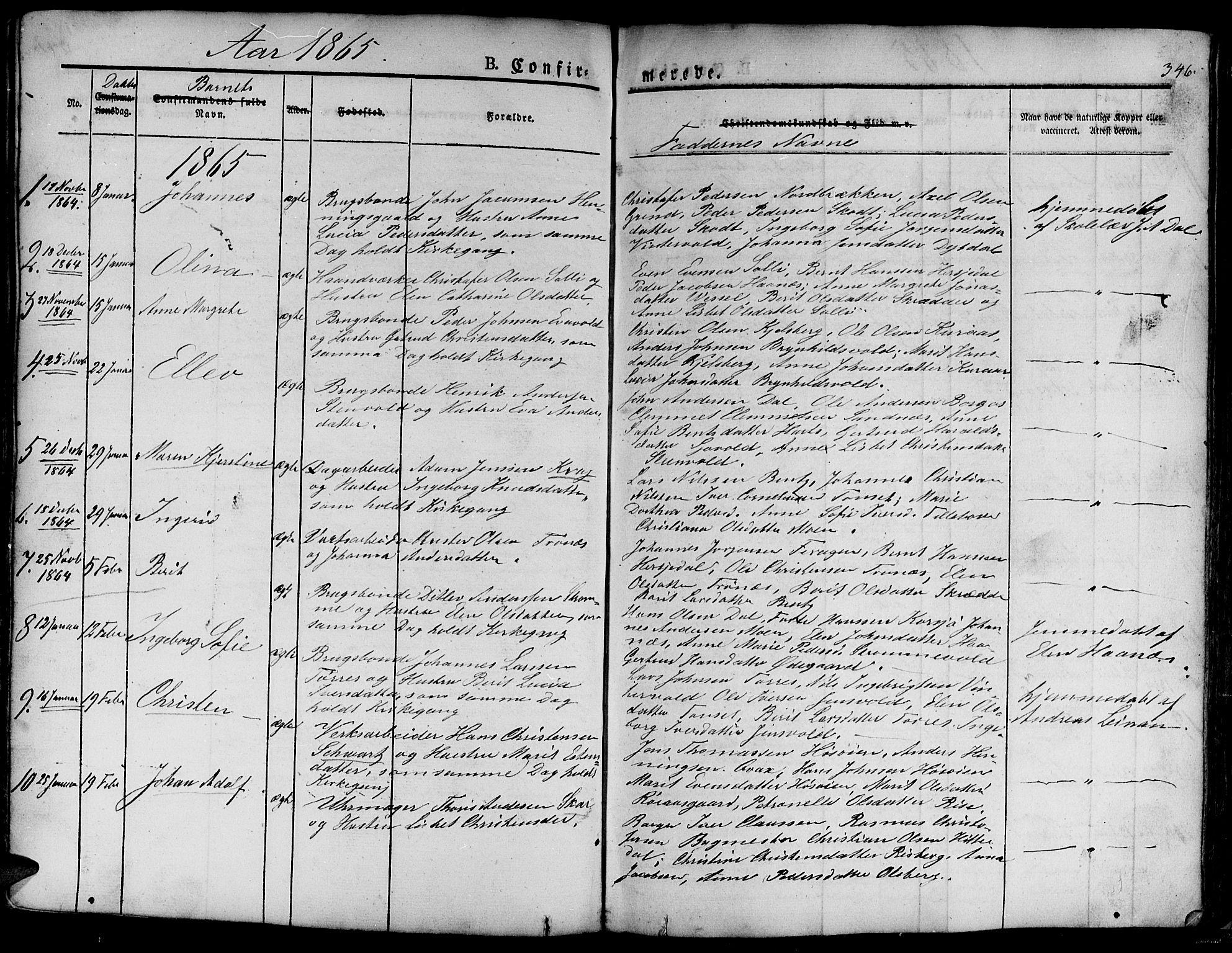 SAT, Ministerialprotokoller, klokkerbøker og fødselsregistre - Sør-Trøndelag, 681/L0938: Klokkerbok nr. 681C02, 1829-1879, s. 346