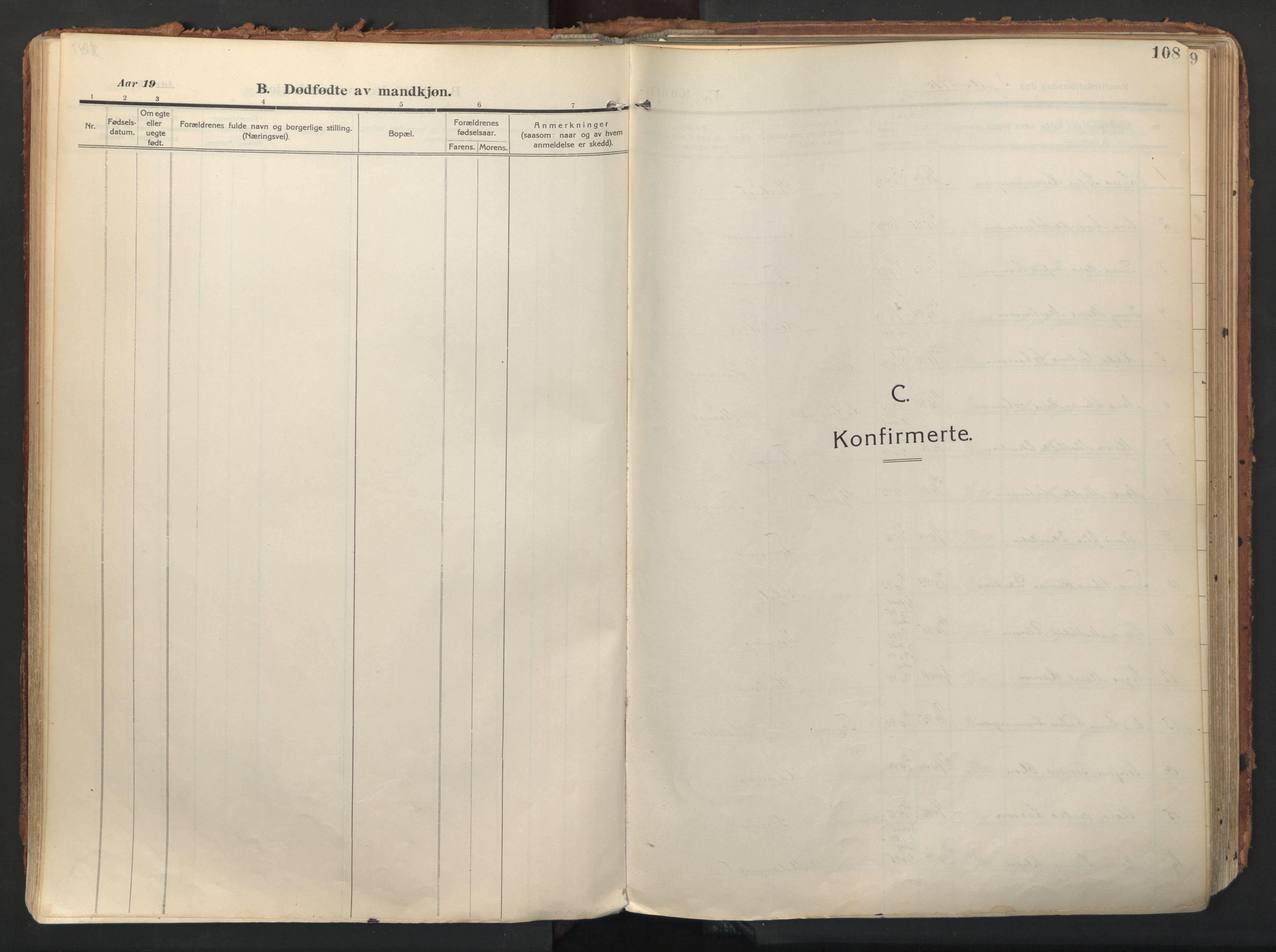 SATØ, Balsfjord sokneprestembete, Ministerialbok nr. 9, 1909-1921, s. 108