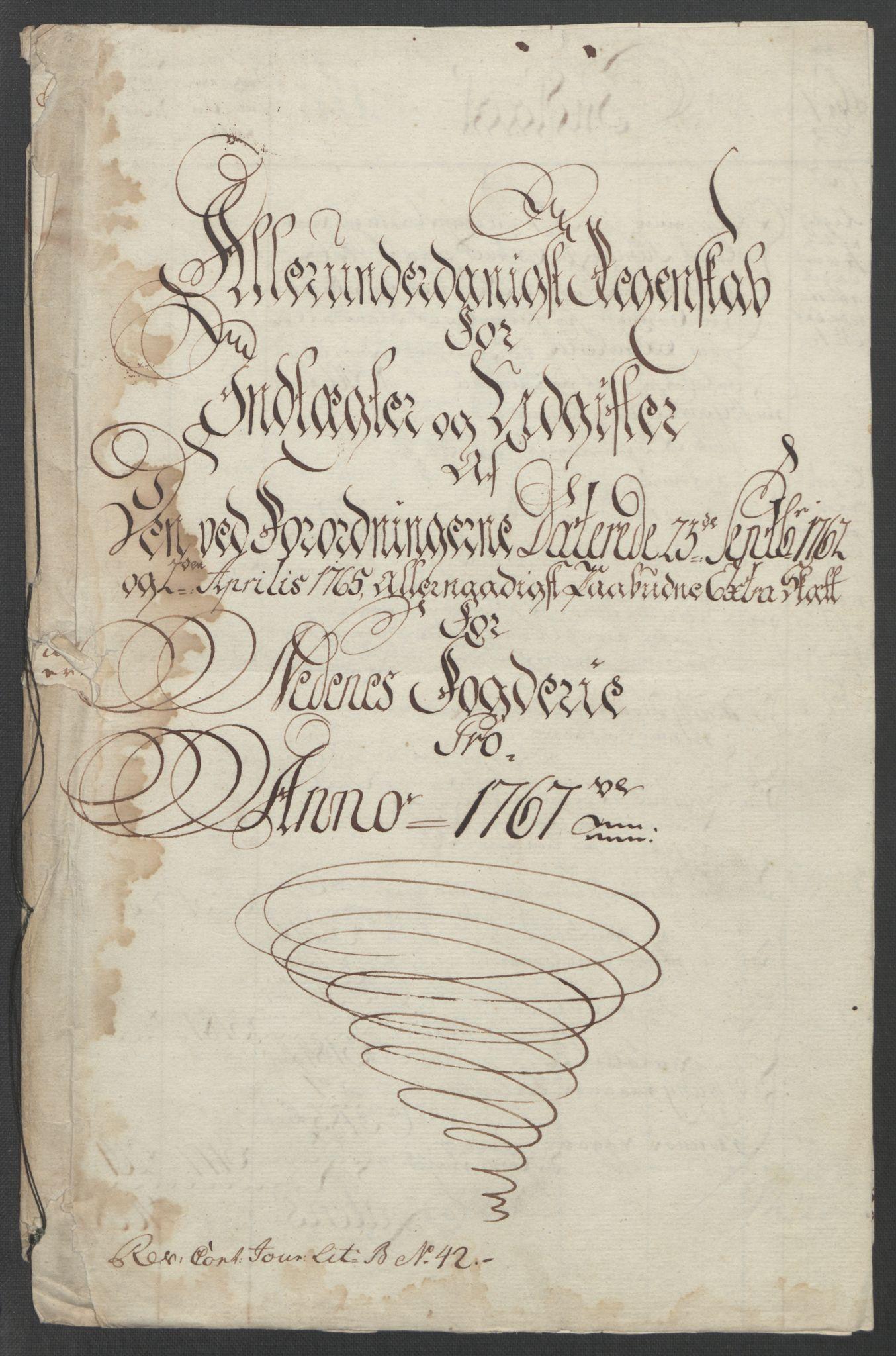 RA, Rentekammeret inntil 1814, Reviderte regnskaper, Fogderegnskap, R39/L2424: Ekstraskatten Nedenes, 1762-1767, s. 322