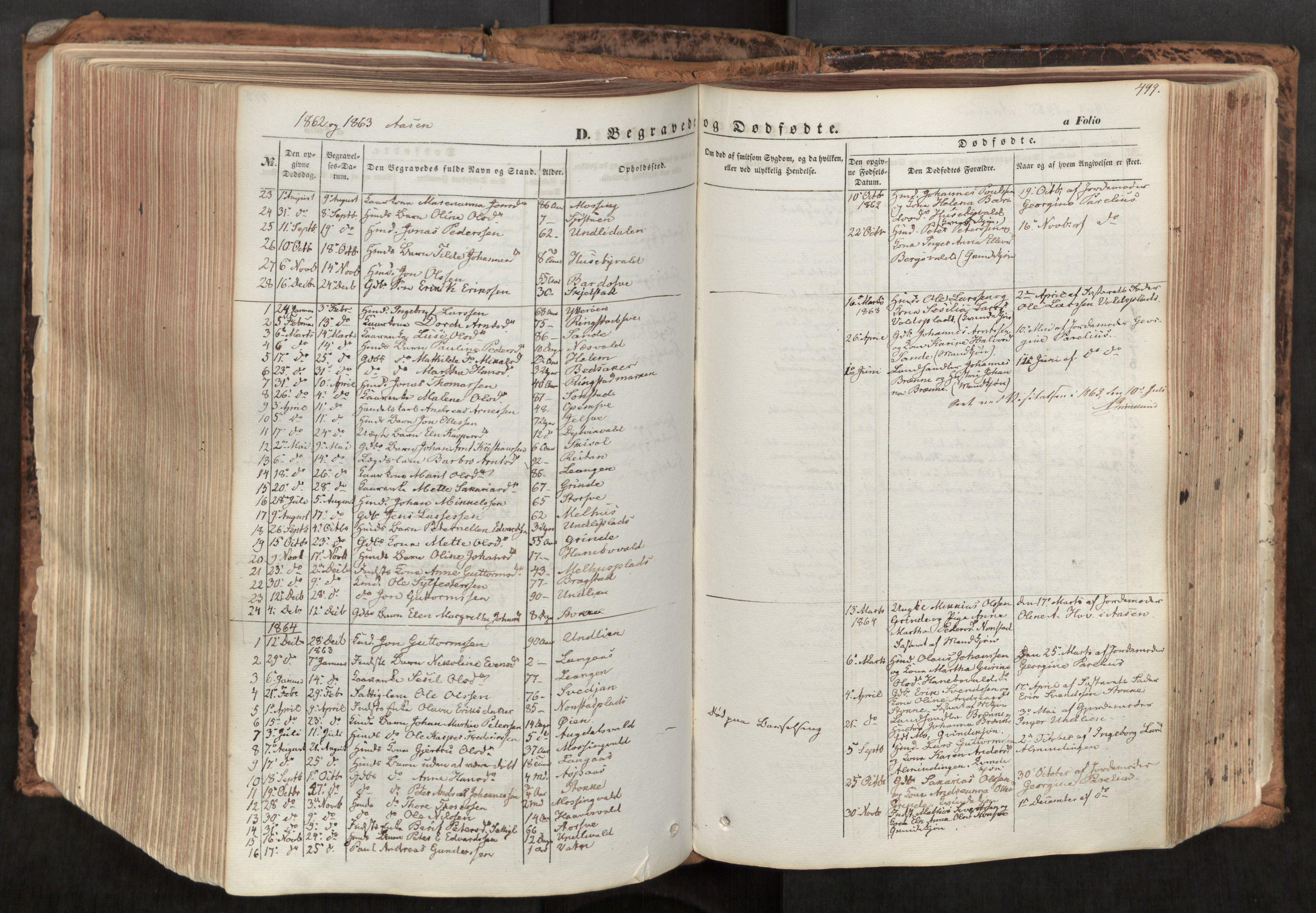 SAT, Ministerialprotokoller, klokkerbøker og fødselsregistre - Nord-Trøndelag, 713/L0116: Ministerialbok nr. 713A07, 1850-1877, s. 499
