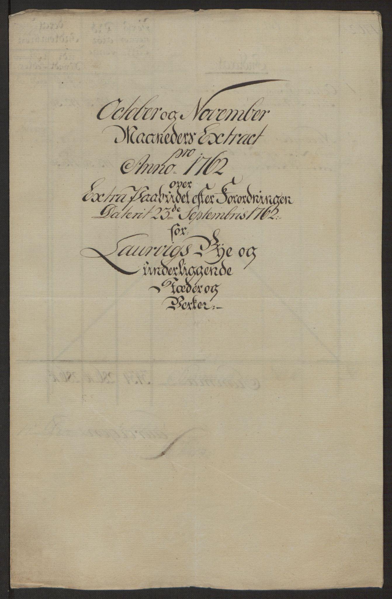 RA, Rentekammeret inntil 1814, Reviderte regnskaper, Byregnskaper, R/Ri/L0183: [I4] Kontribusjonsregnskap, 1762-1768, s. 69