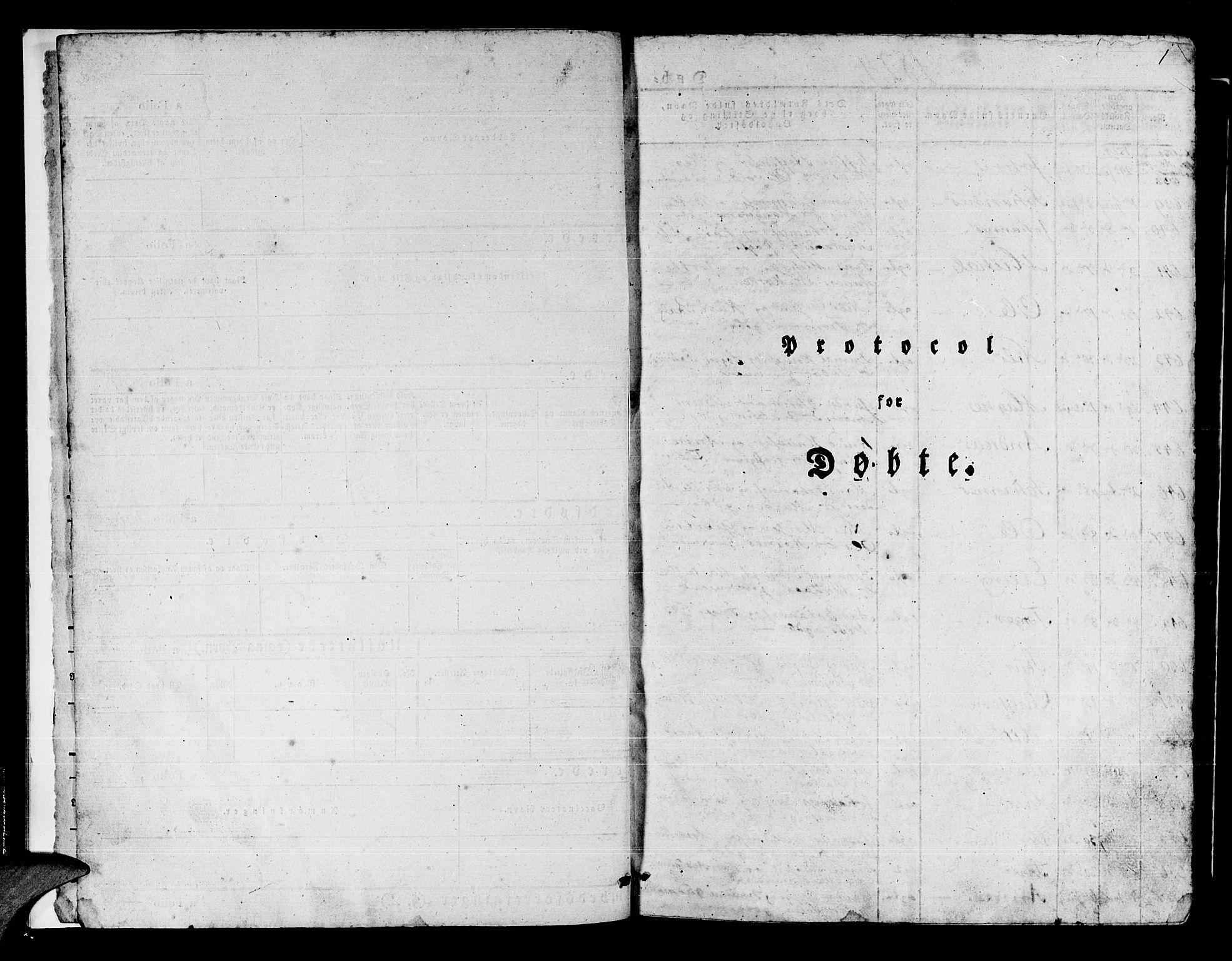 SAB, Manger sokneprestembete, H/Haa: Ministerialbok nr. A 4, 1824-1838, s. 1