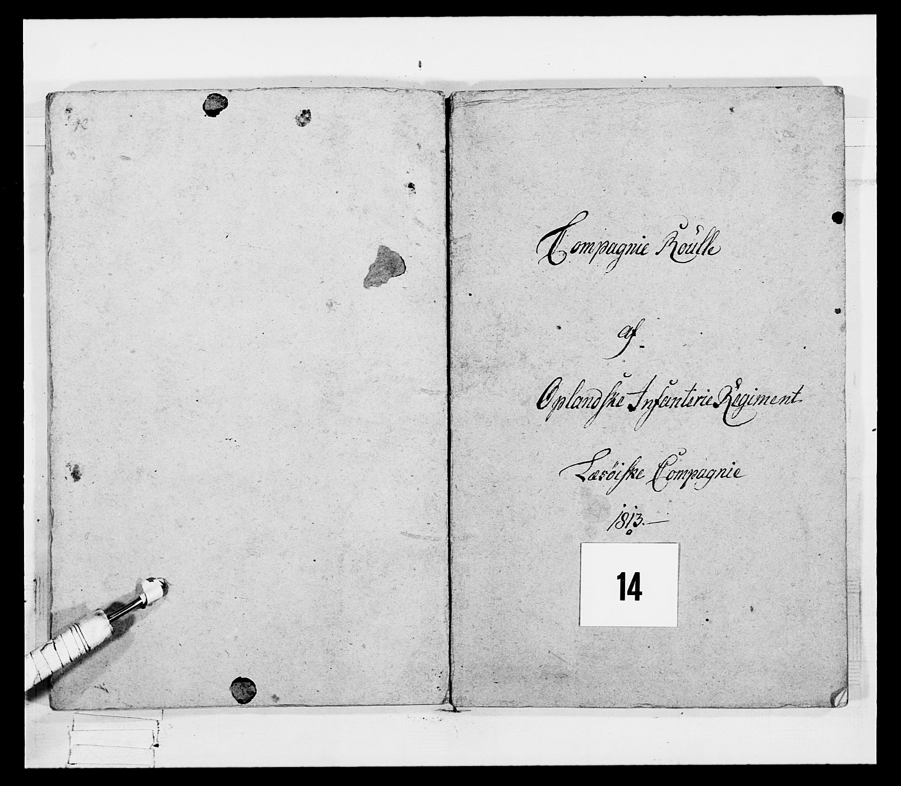 RA, Generalitets- og kommissariatskollegiet, Det kongelige norske kommissariatskollegium, E/Eh/L0069: Opplandske gevorbne infanteriregiment, 1810-1818, s. 662
