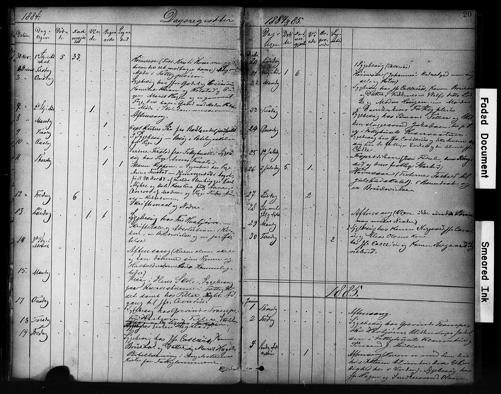 SAT, Ministerialprotokoller, klokkerbøker og fødselsregistre - Sør-Trøndelag, 601/L0071: Residerende kapellans bok nr. 601B04, 1882-1931, s. 20