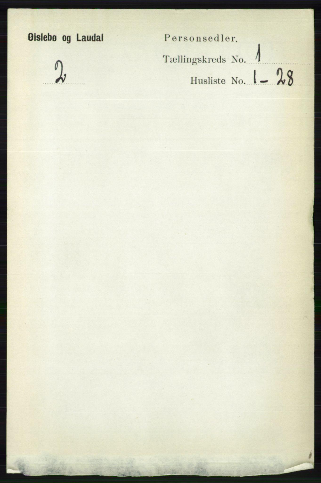RA, Folketelling 1891 for 1021 Øyslebø og Laudal herred, 1891, s. 79