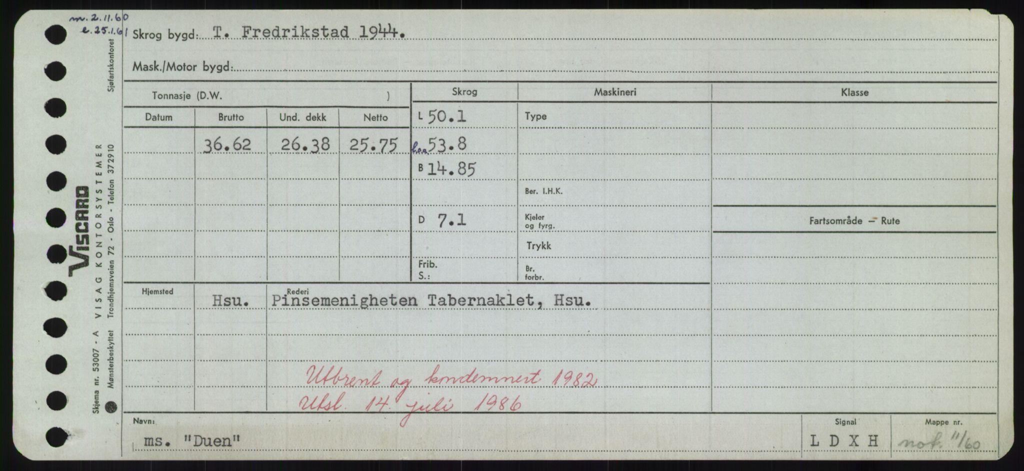 RA, Sjøfartsdirektoratet med forløpere, Skipsmålingen, H/Hd/L0008: Fartøy, C-D, s. 681