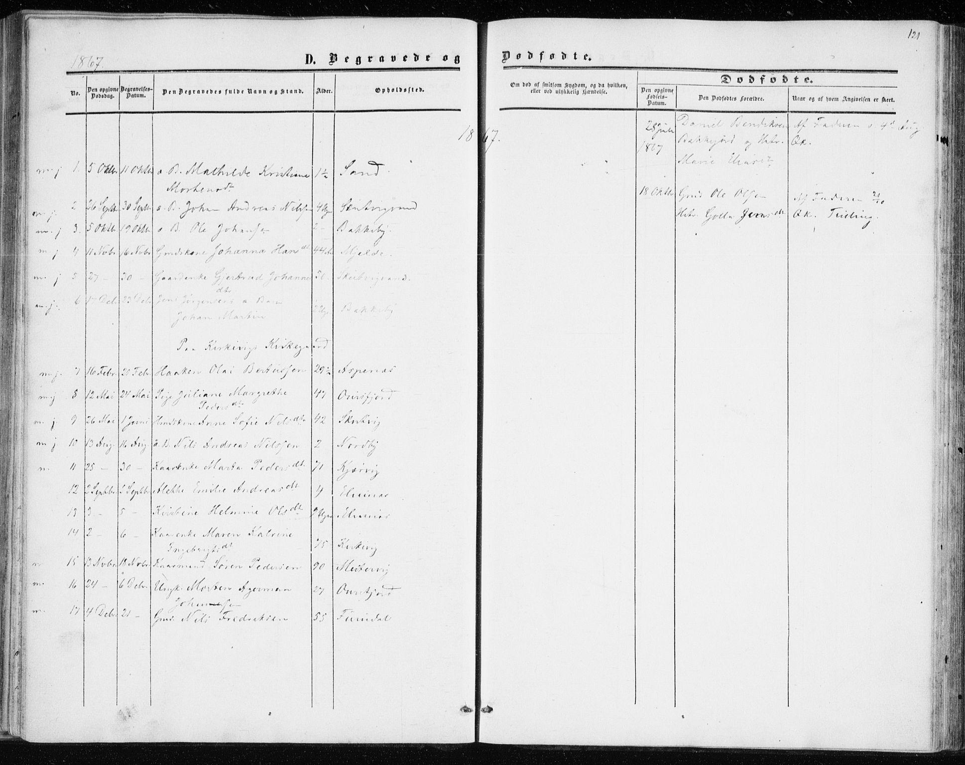 SATØ, Balsfjord sokneprestembete, Ministerialbok nr. 1, 1858-1870, s. 121