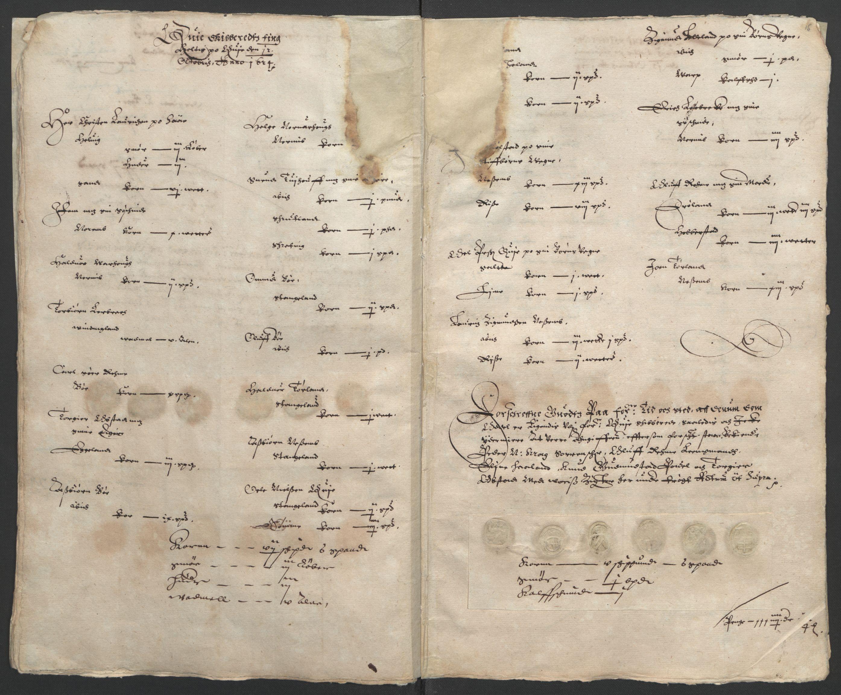RA, Stattholderembetet 1572-1771, Ek/L0010: Jordebøker til utlikning av rosstjeneste 1624-1626:, 1624-1626, s. 49