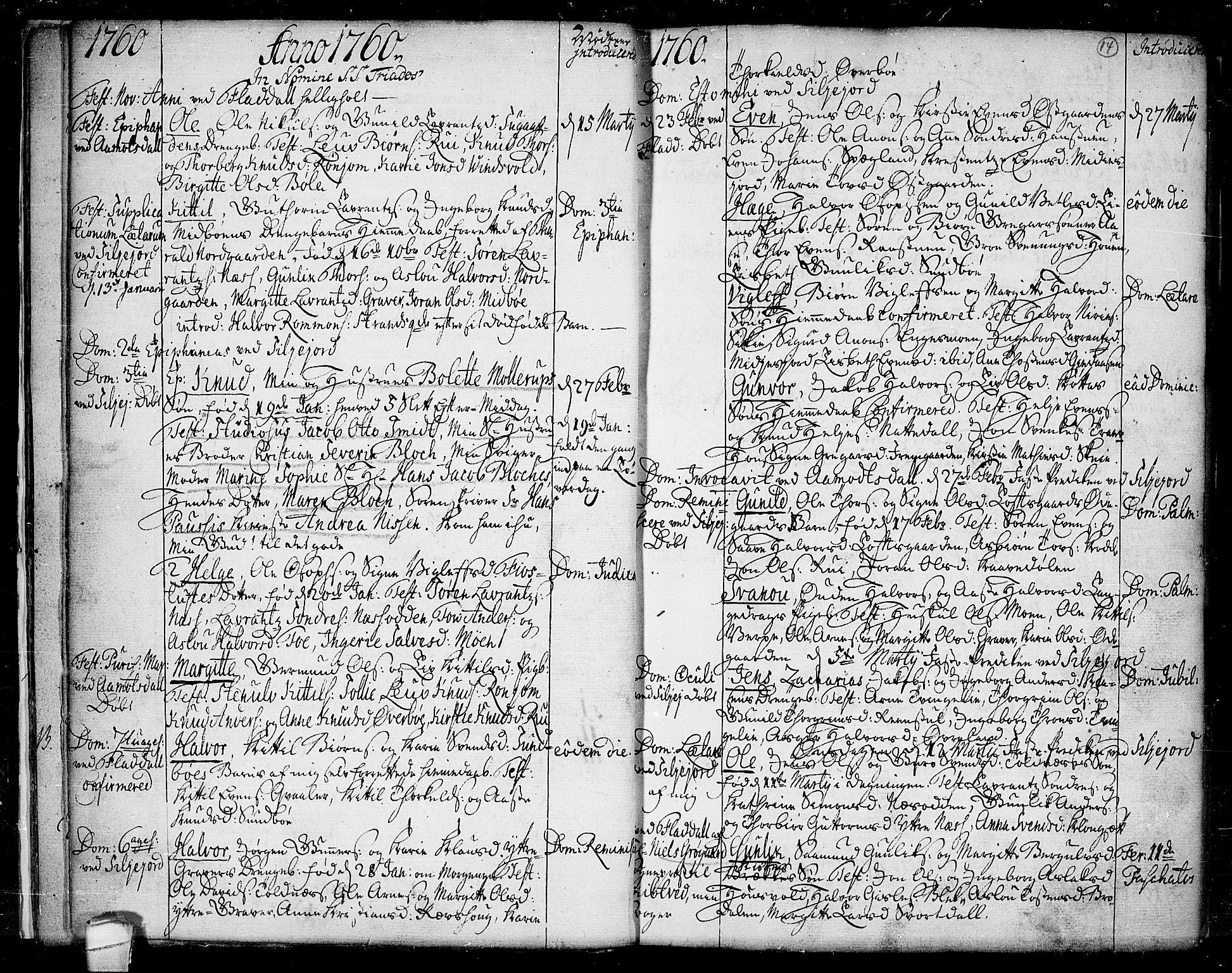 SAKO, Seljord kirkebøker, F/Fa/L0007: Ministerialbok nr. I 7, 1755-1800, s. 14
