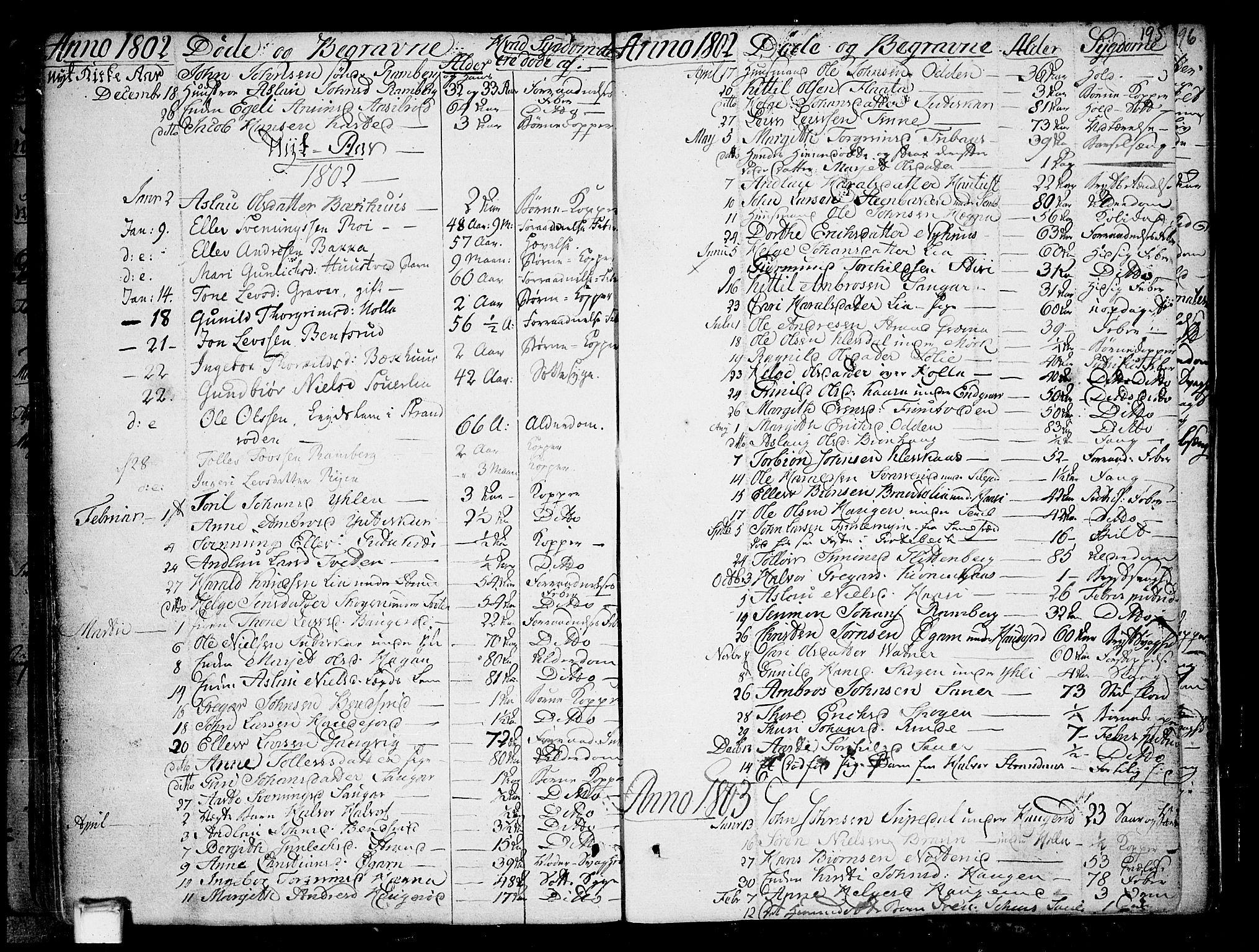 SAKO, Heddal kirkebøker, F/Fa/L0004: Ministerialbok nr. I 4, 1784-1814, s. 195