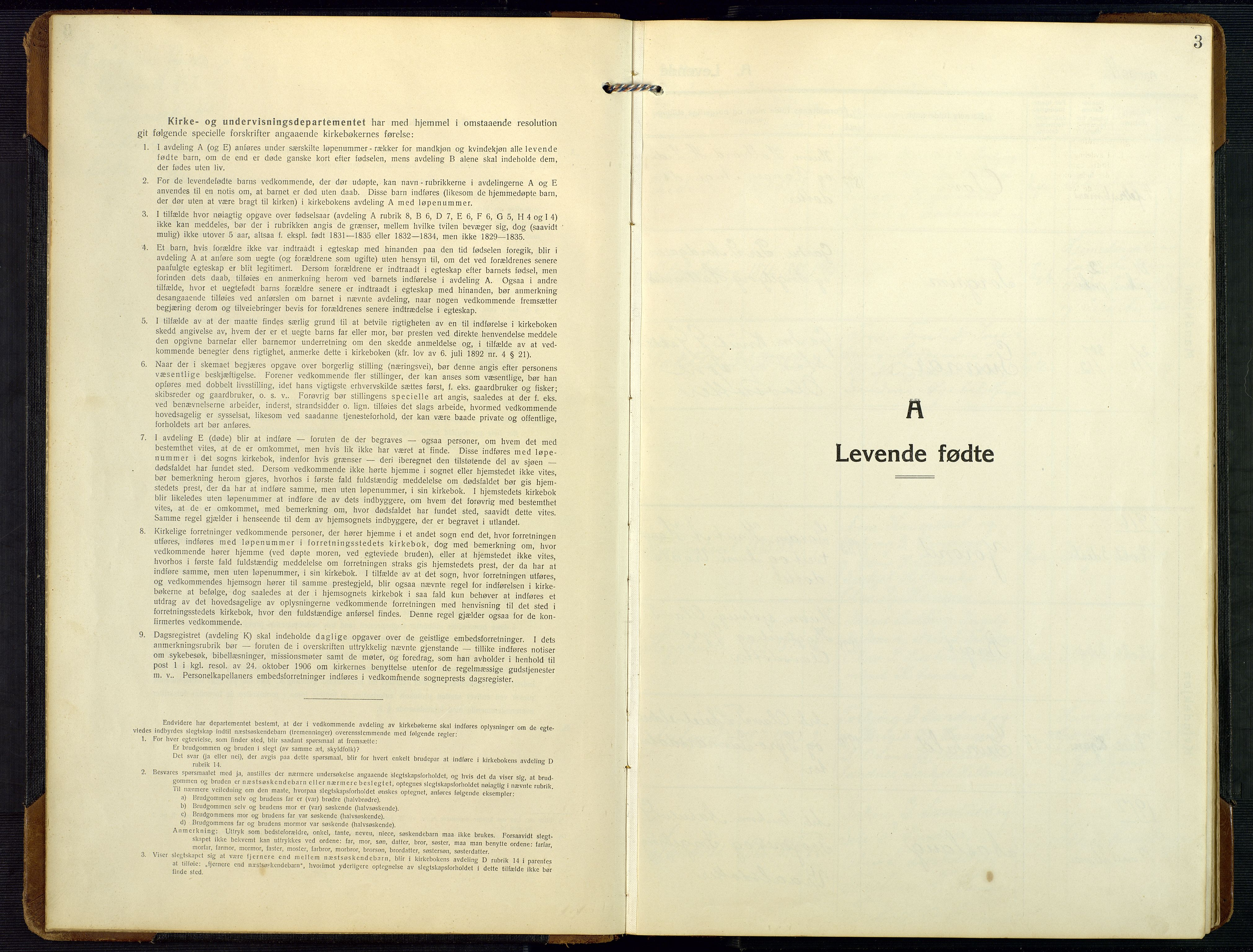 SAK, Bygland sokneprestkontor, F/Fb/Fbc/L0003: Klokkerbok nr. B 3, 1916-1975, s. 3