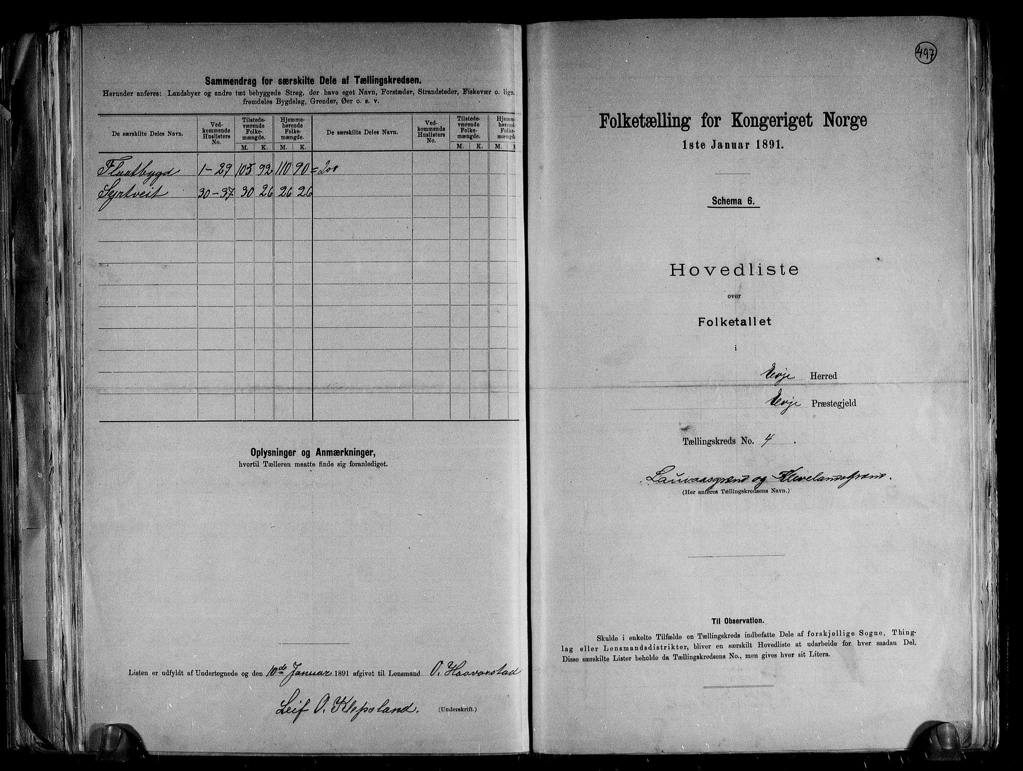 RA, Folketelling 1891 for 0937 Evje herred, 1891, s. 11