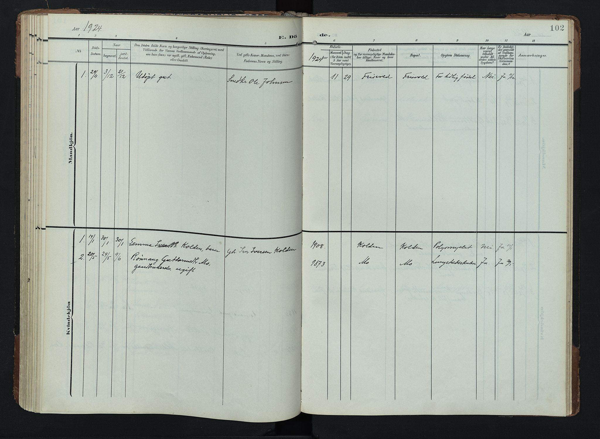 SAH, Lom prestekontor, K/L0011: Ministerialbok nr. 11, 1904-1928, s. 102