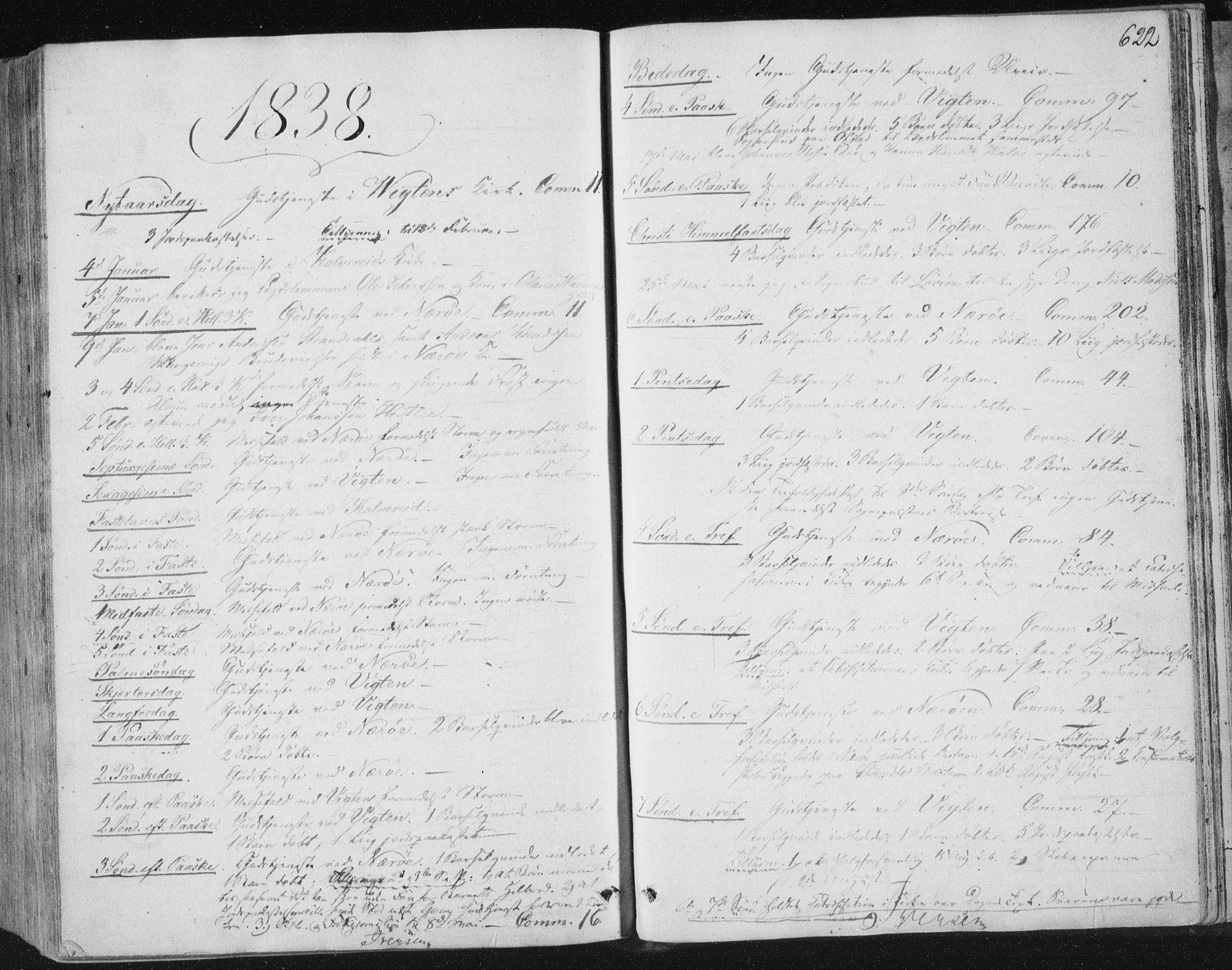 SAT, Ministerialprotokoller, klokkerbøker og fødselsregistre - Nord-Trøndelag, 784/L0669: Ministerialbok nr. 784A04, 1829-1859, s. 622