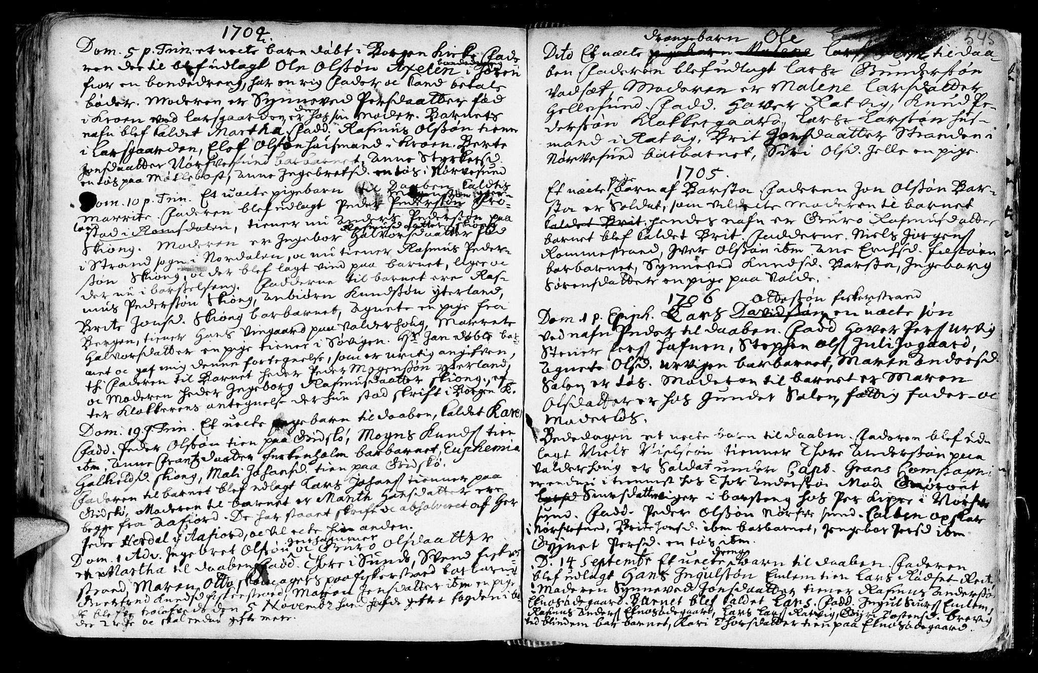 SAT, Ministerialprotokoller, klokkerbøker og fødselsregistre - Møre og Romsdal, 528/L0390: Ministerialbok nr. 528A01, 1698-1739, s. 544-545