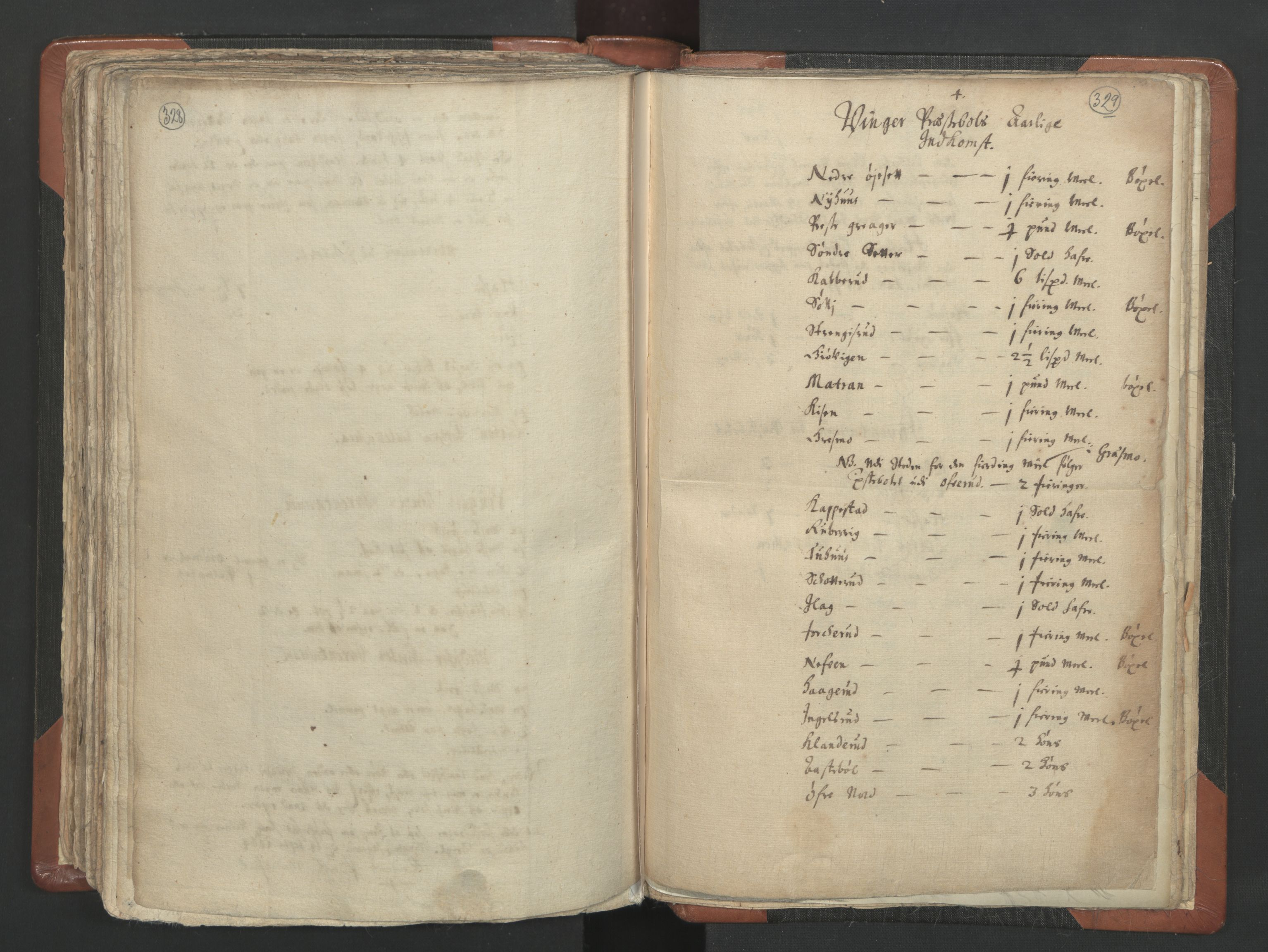 RA, Sogneprestenes manntall 1664-1666, nr. 4: Øvre Romerike prosti, 1664-1666, s. 328-329