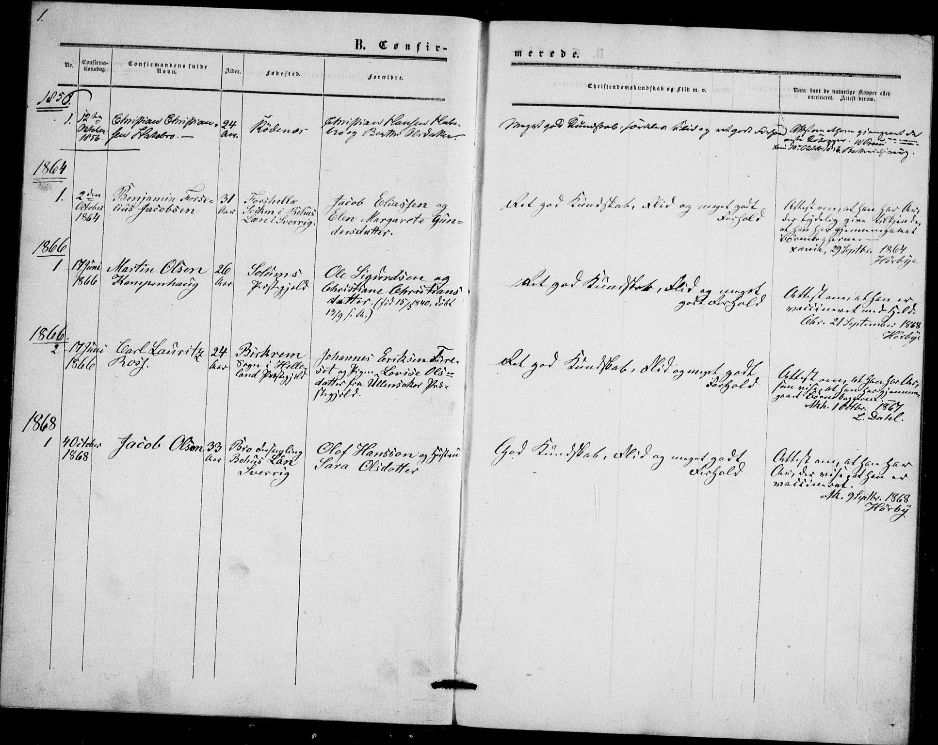 SAO, Akershus festnings slaveri Kirkebøker, F/Fa/L0002: Ministerialbok nr. 2, 1852-1883, s. 1