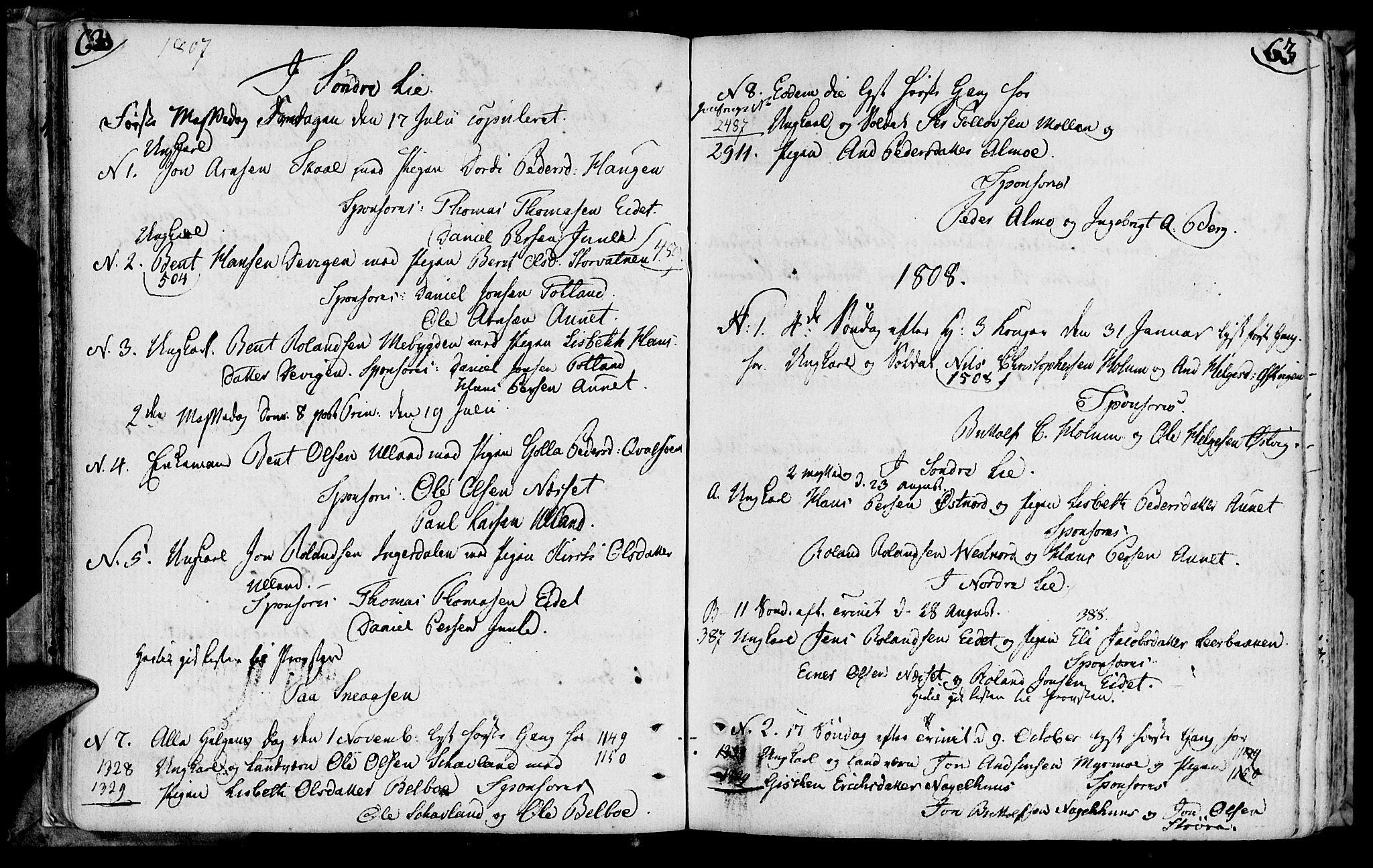 SAT, Ministerialprotokoller, klokkerbøker og fødselsregistre - Nord-Trøndelag, 749/L0468: Ministerialbok nr. 749A02, 1787-1817, s. 62-63